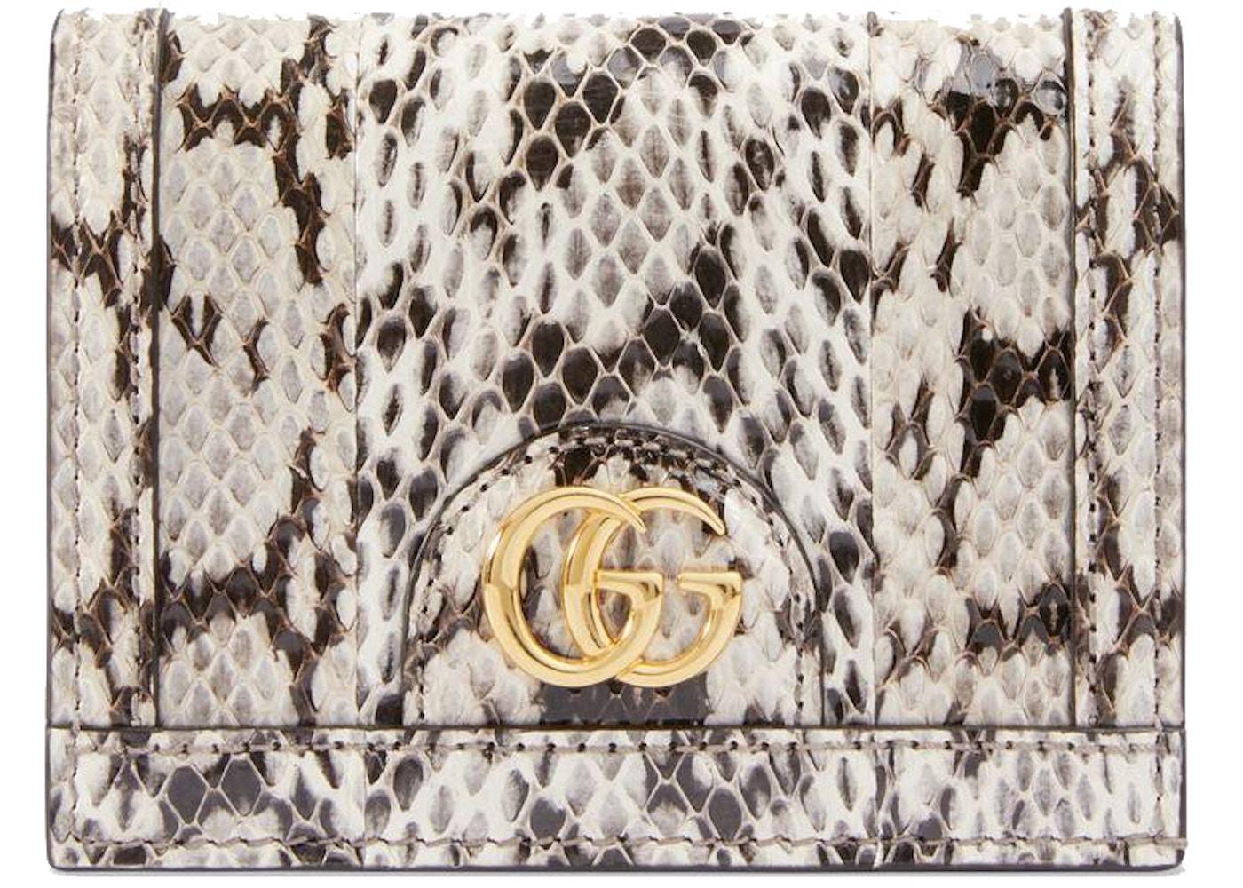 667e61fa97 Gucci Ophidia Card Case Snakeskin Natural