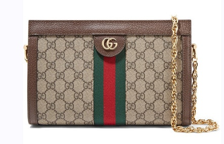 Gucci Ophidia Convertible Clutch GG Web Small Brown