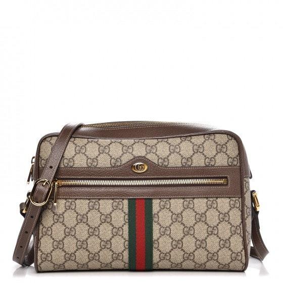 Gucci Ophidia Crossbody GG Supreme Web Small Brown