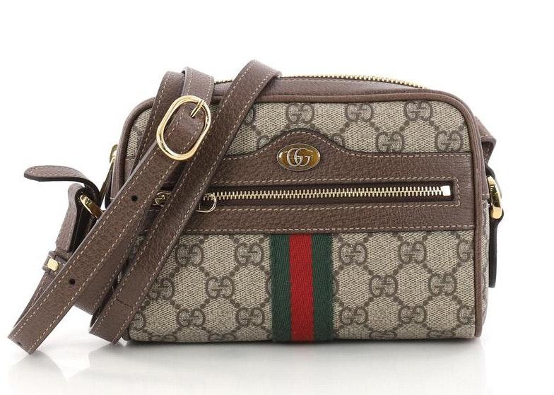 Gucci Ophidia Crossbody Monogram GG Mini Brown