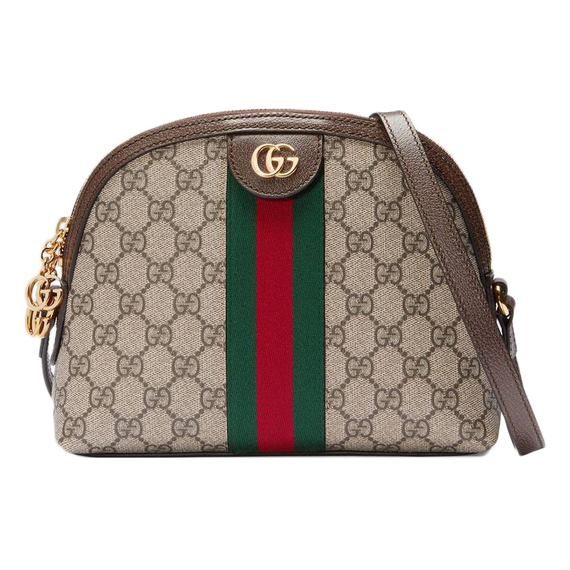 Gucci Ophidia GG Web Shoulder Small Beige