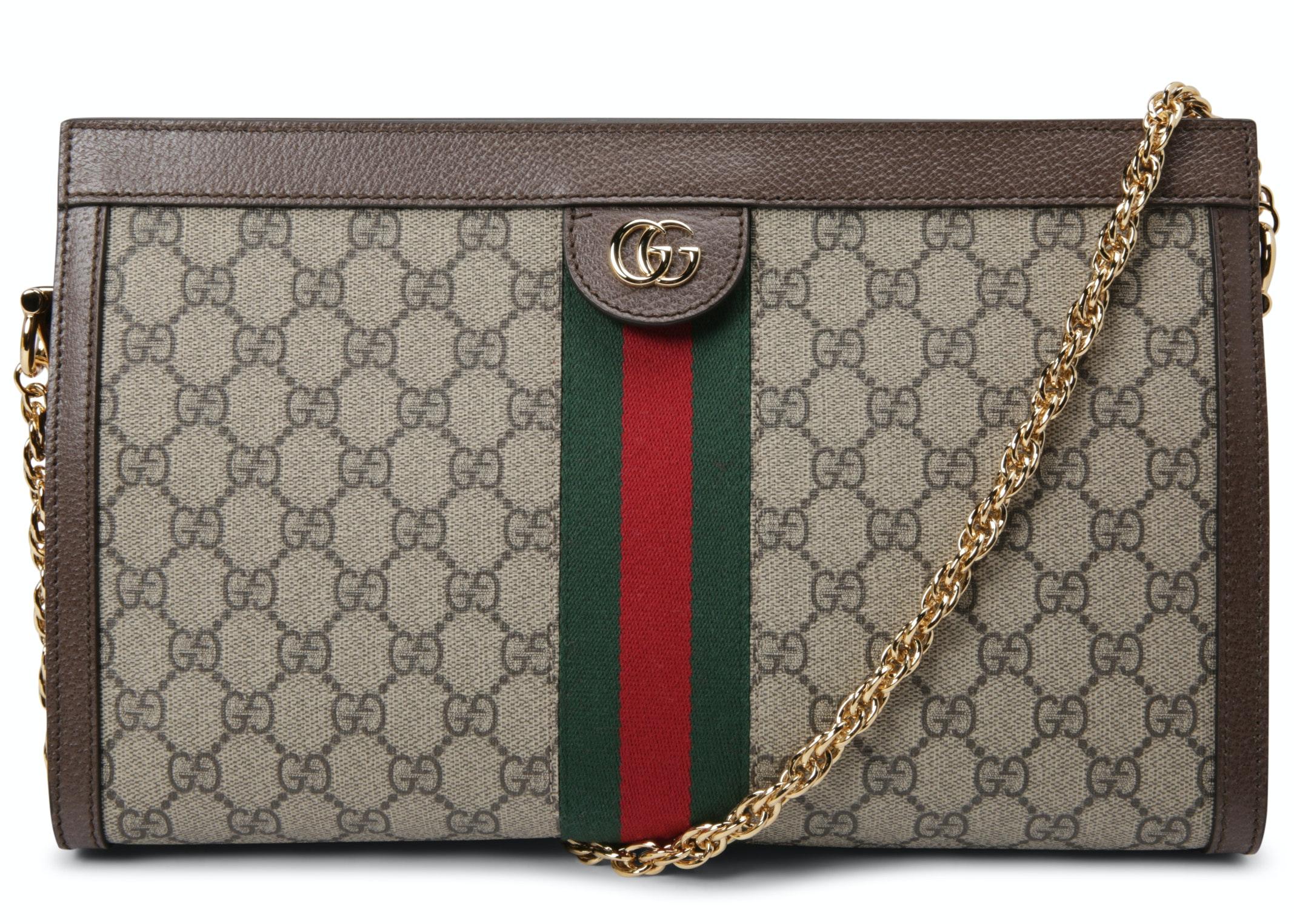 Gucci Ophidia Shoulder Bag GG Supreme Medium Brown