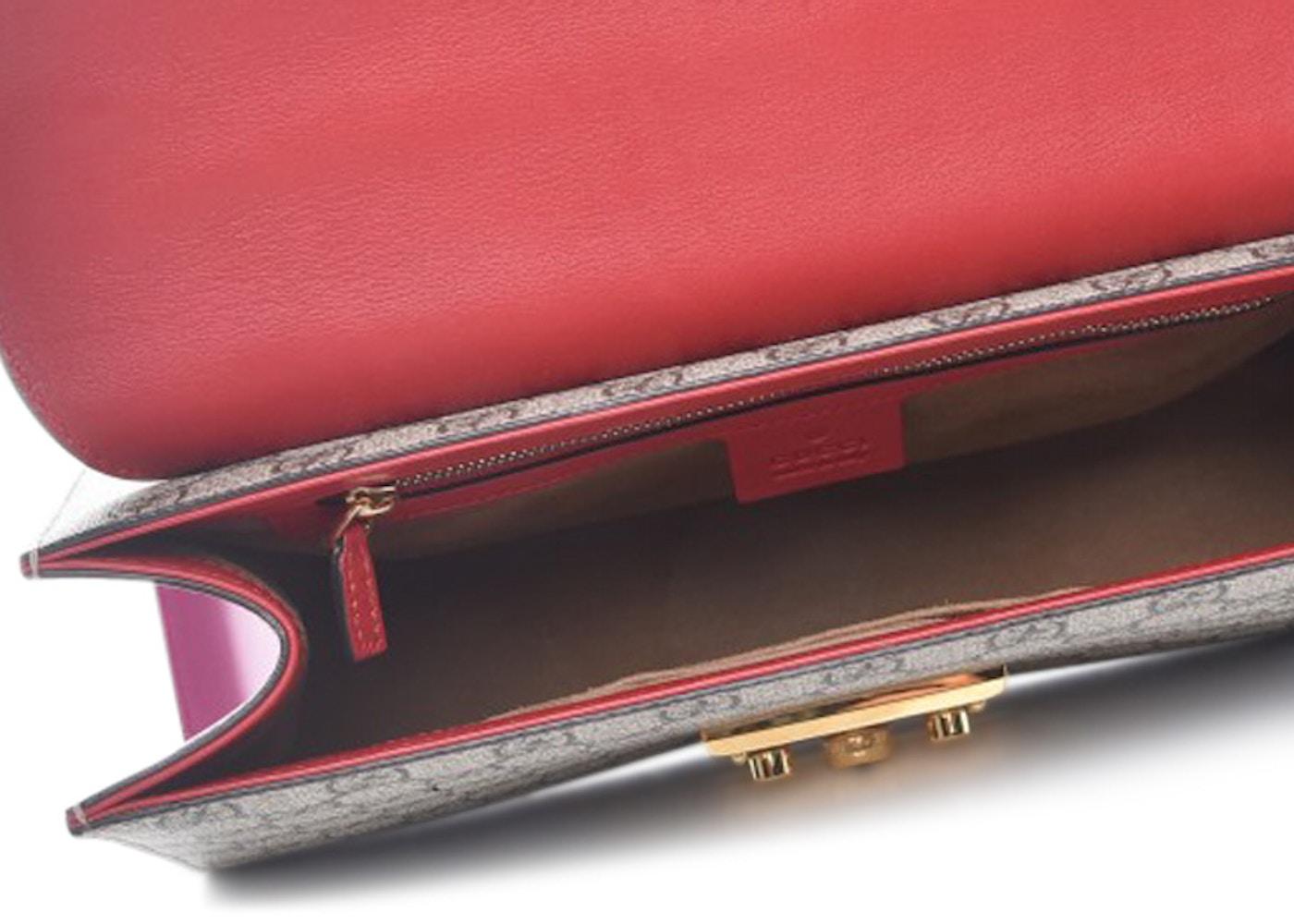 9f6ab5bee02a Gucci Padlock Monogram GG Supreme Multicolor Medium Hibiscus Pink/Red/Brown
