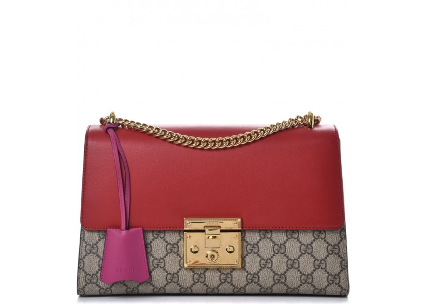 2b27efafb350 Gucci Padlock Monogram GG Supreme Multicolor Medium Hibiscus ...