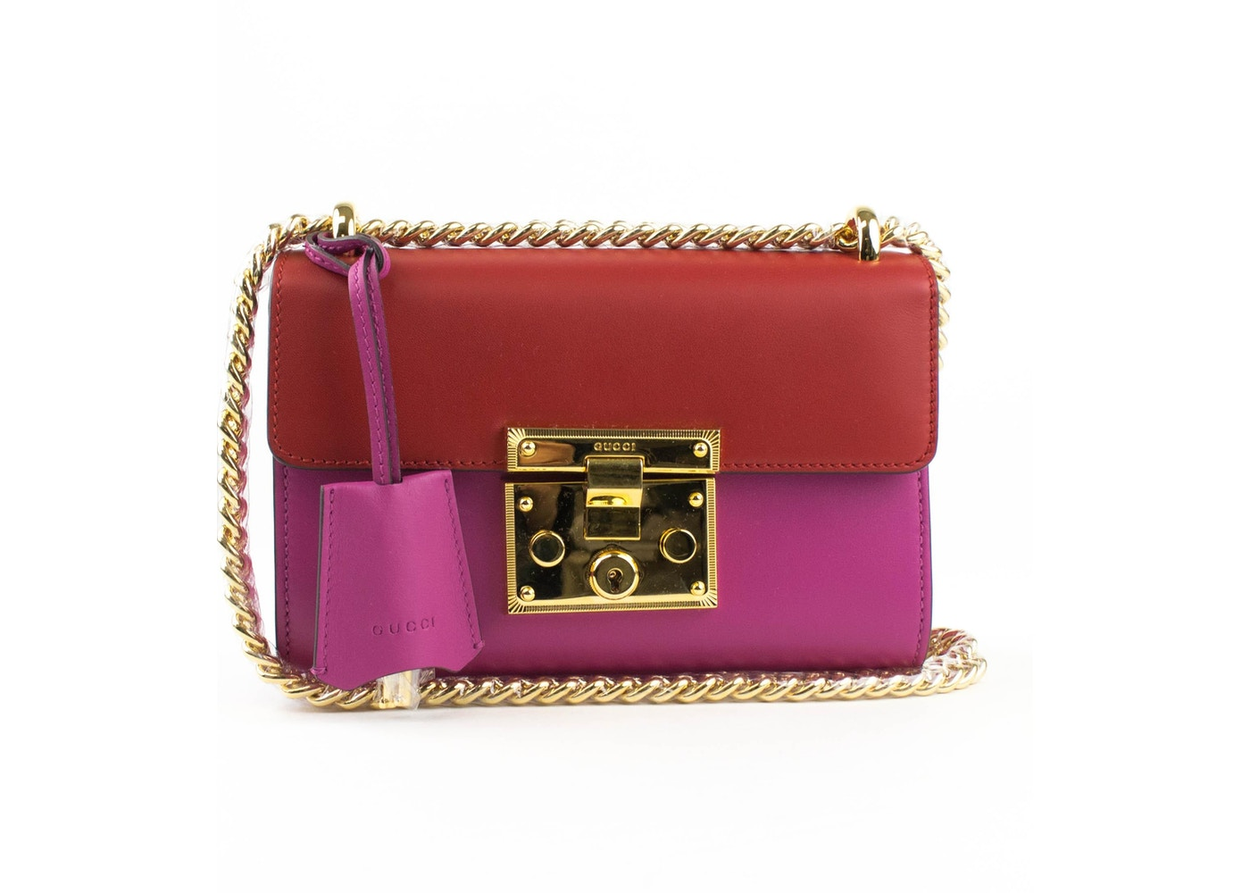 02c5b678eae4d4 Gucci Padlock Shoulder Small Pink/Red. Small Pink/Red