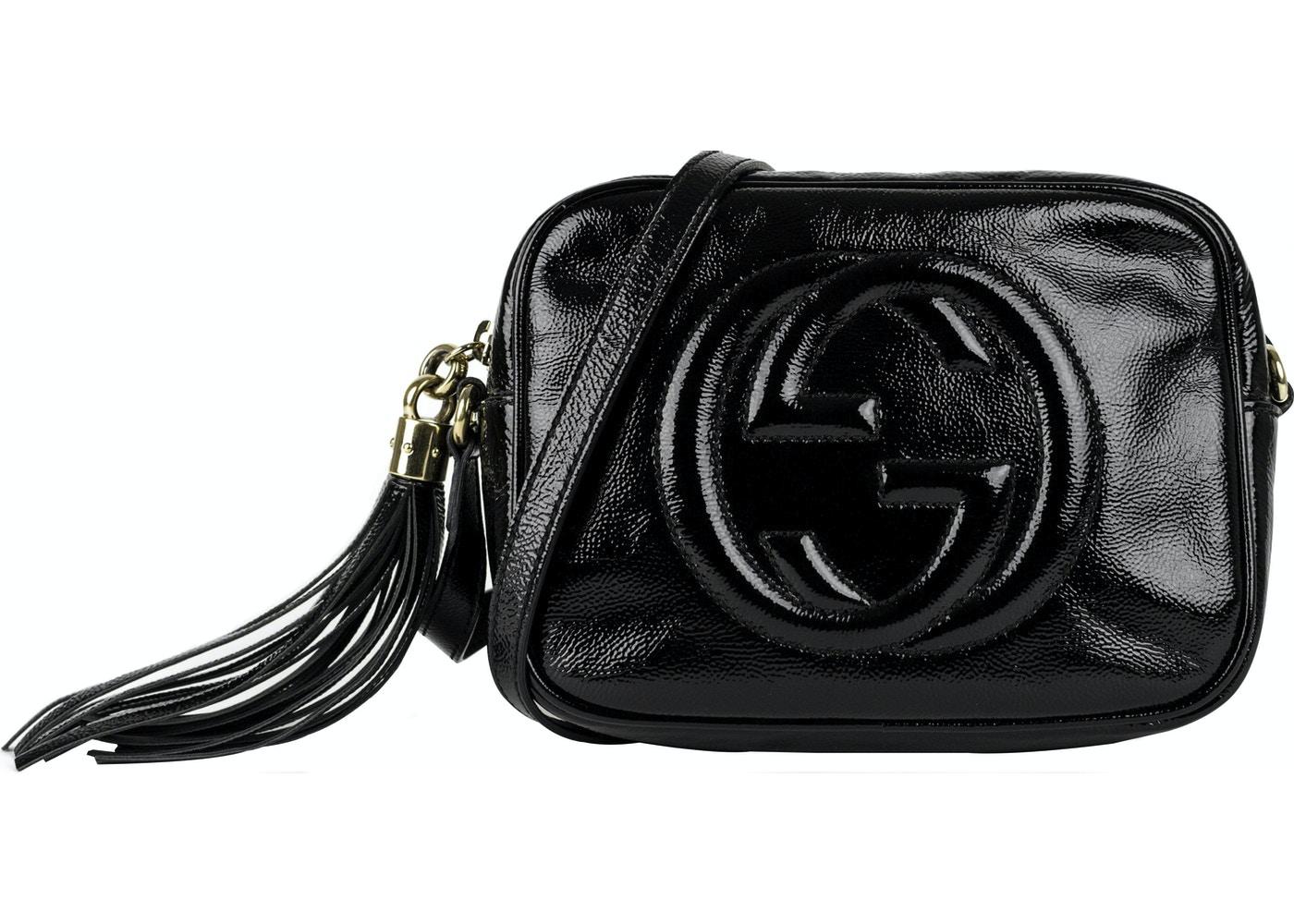 63f310ae79d Gucci Patent Leather Soho Disco Black. Black