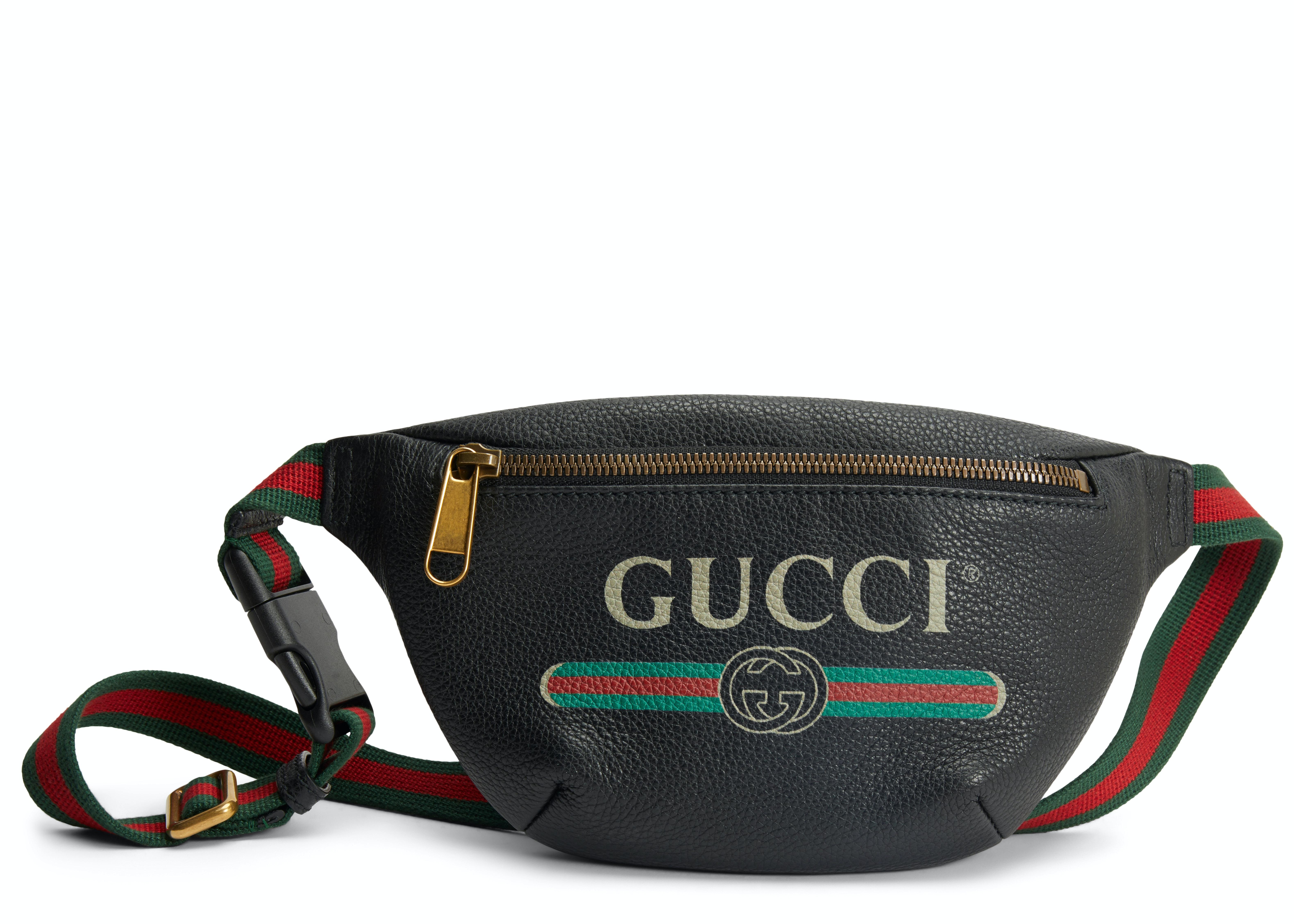 Gucci Print Belt Bag Vintage Logo Small (29.5 - 41 in.) Black