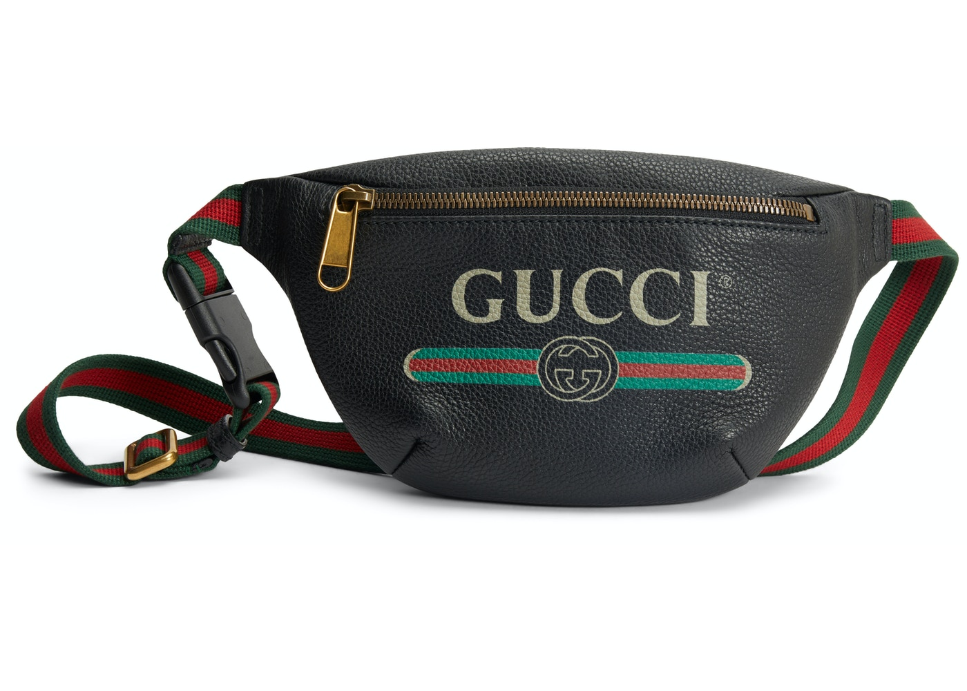 ff7819715 Gucci Print Belt Bag Vintage Logo Small (29.5 - 41 in.) Black