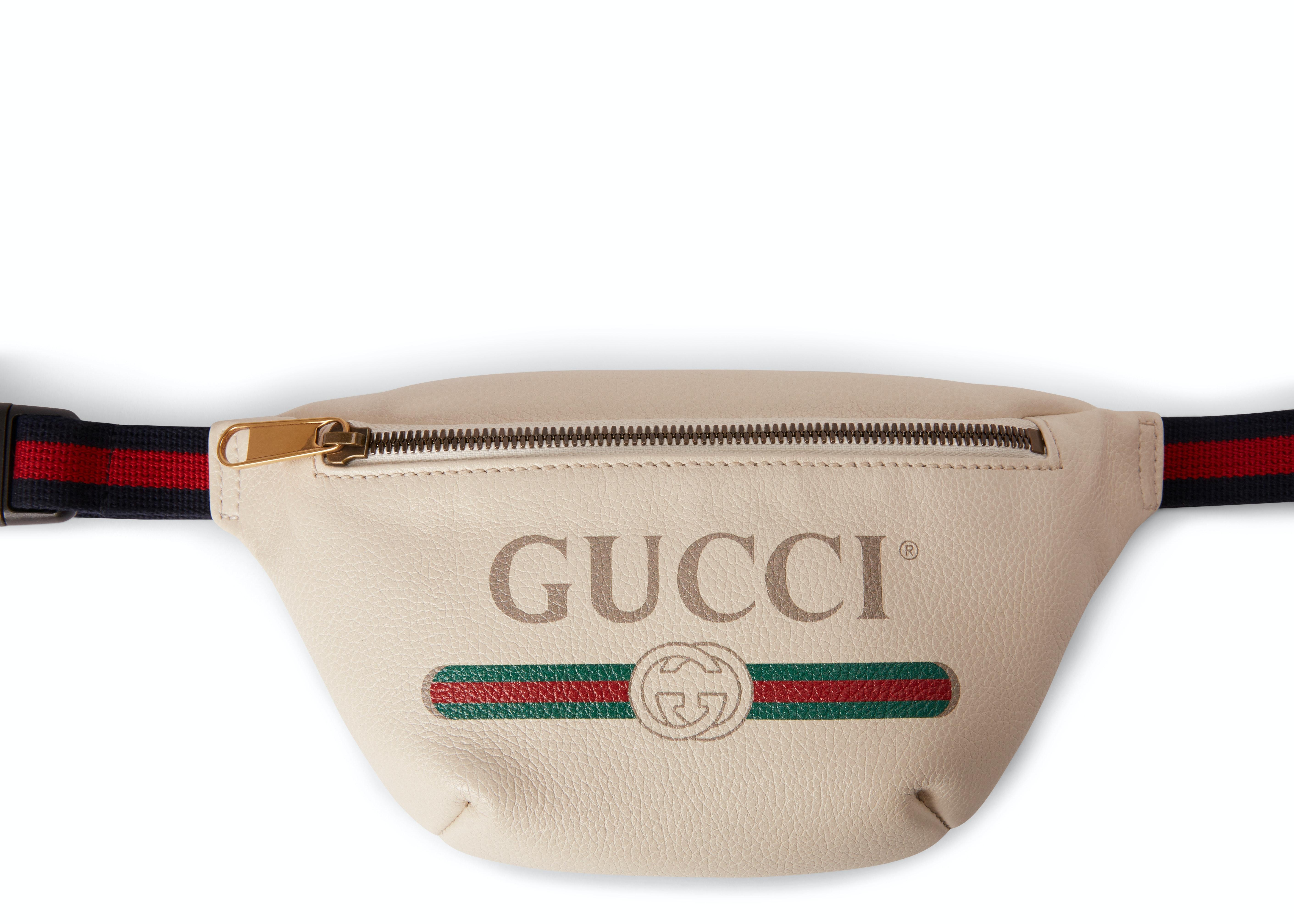 Gucci Print Belt Bag Vintage Logo Small White