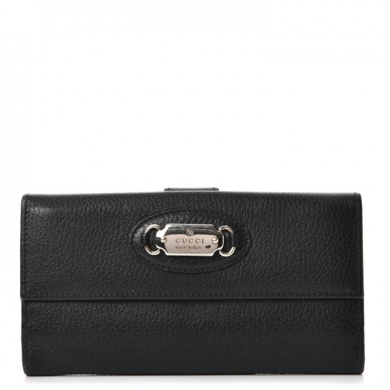 Gucci Punch Continental Flap Wallet Black