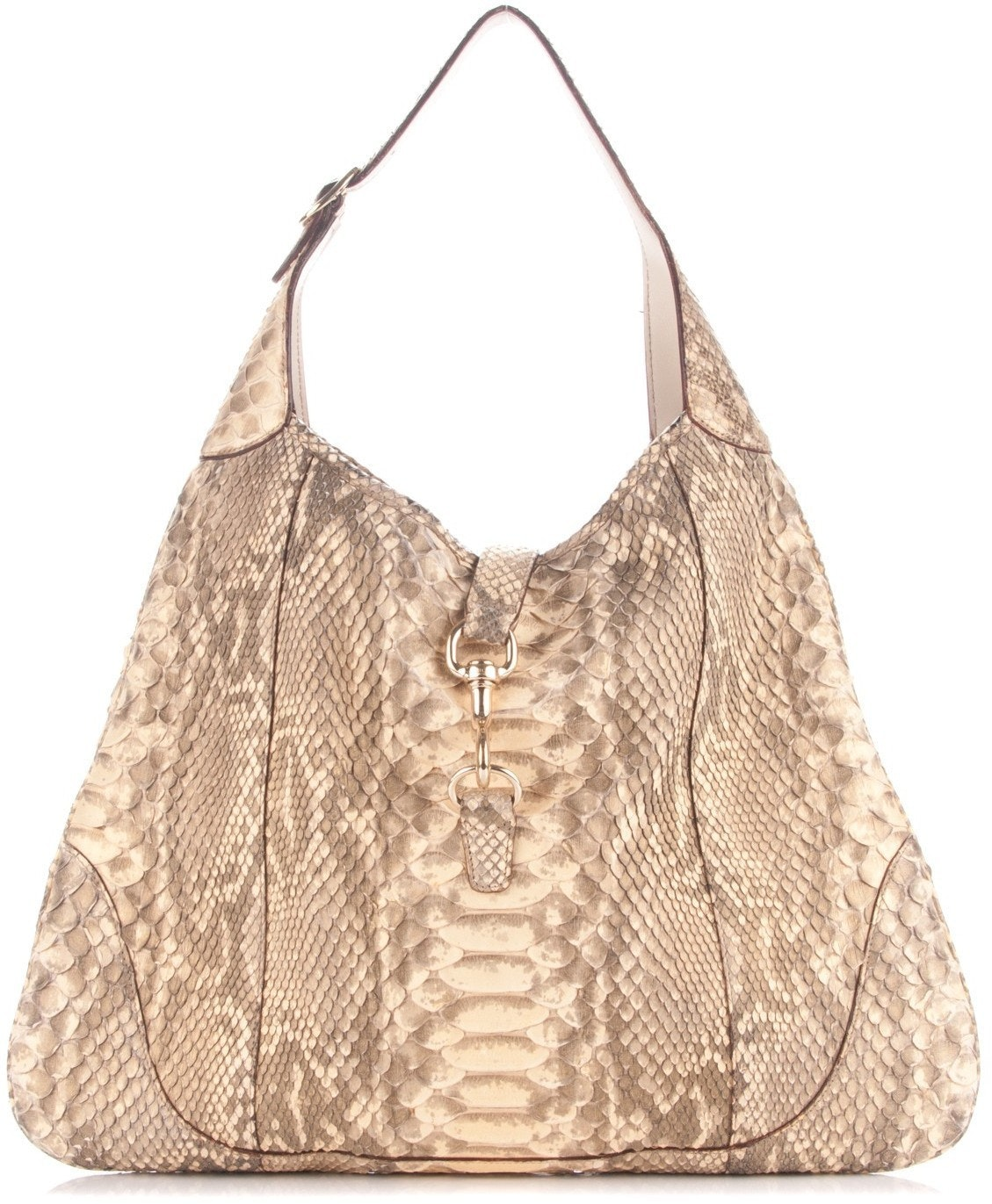 Gucci Jackie Hobo Large Gold and Grey