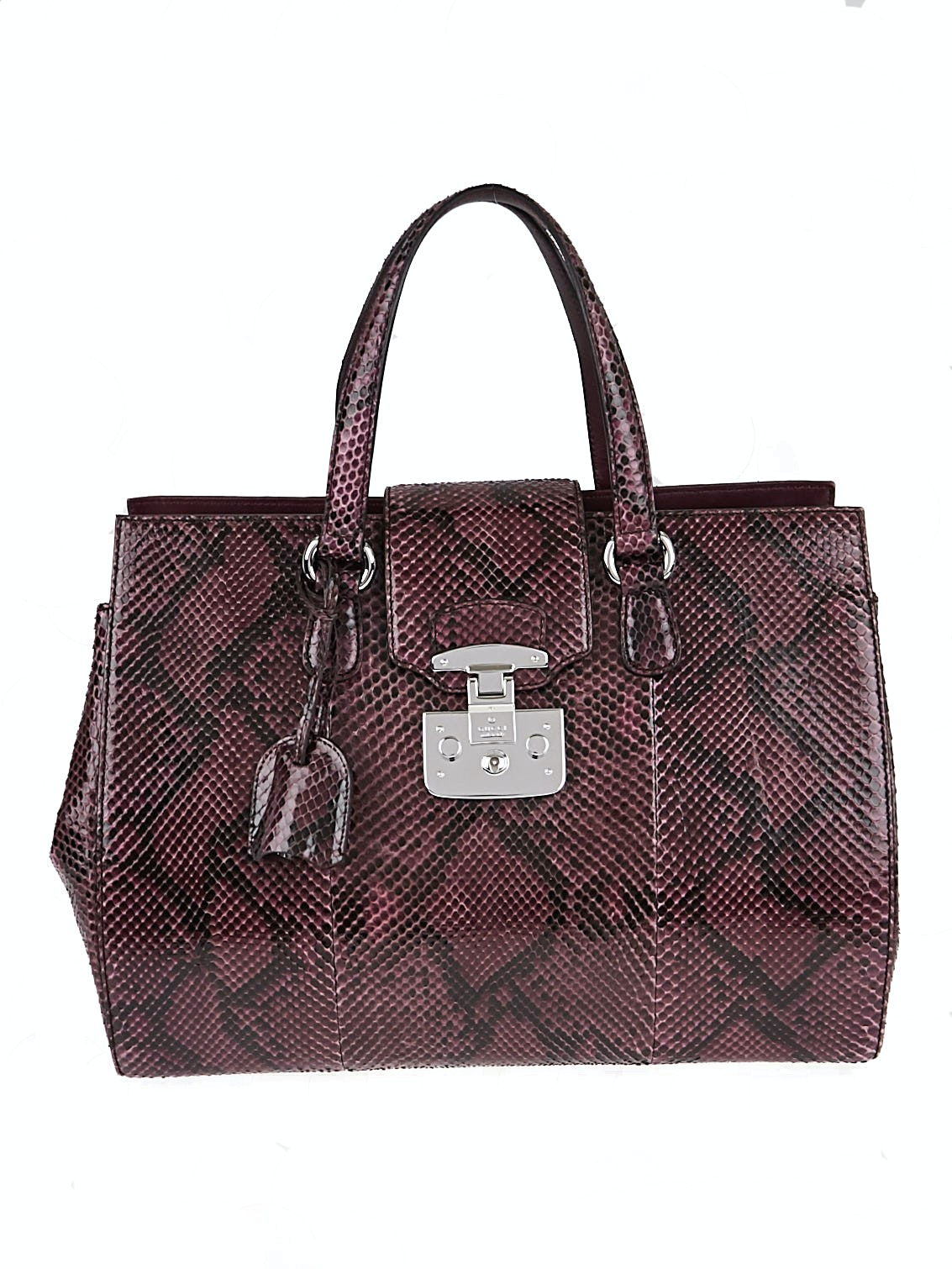 Gucci Lady Lock Top Handle Large Wine