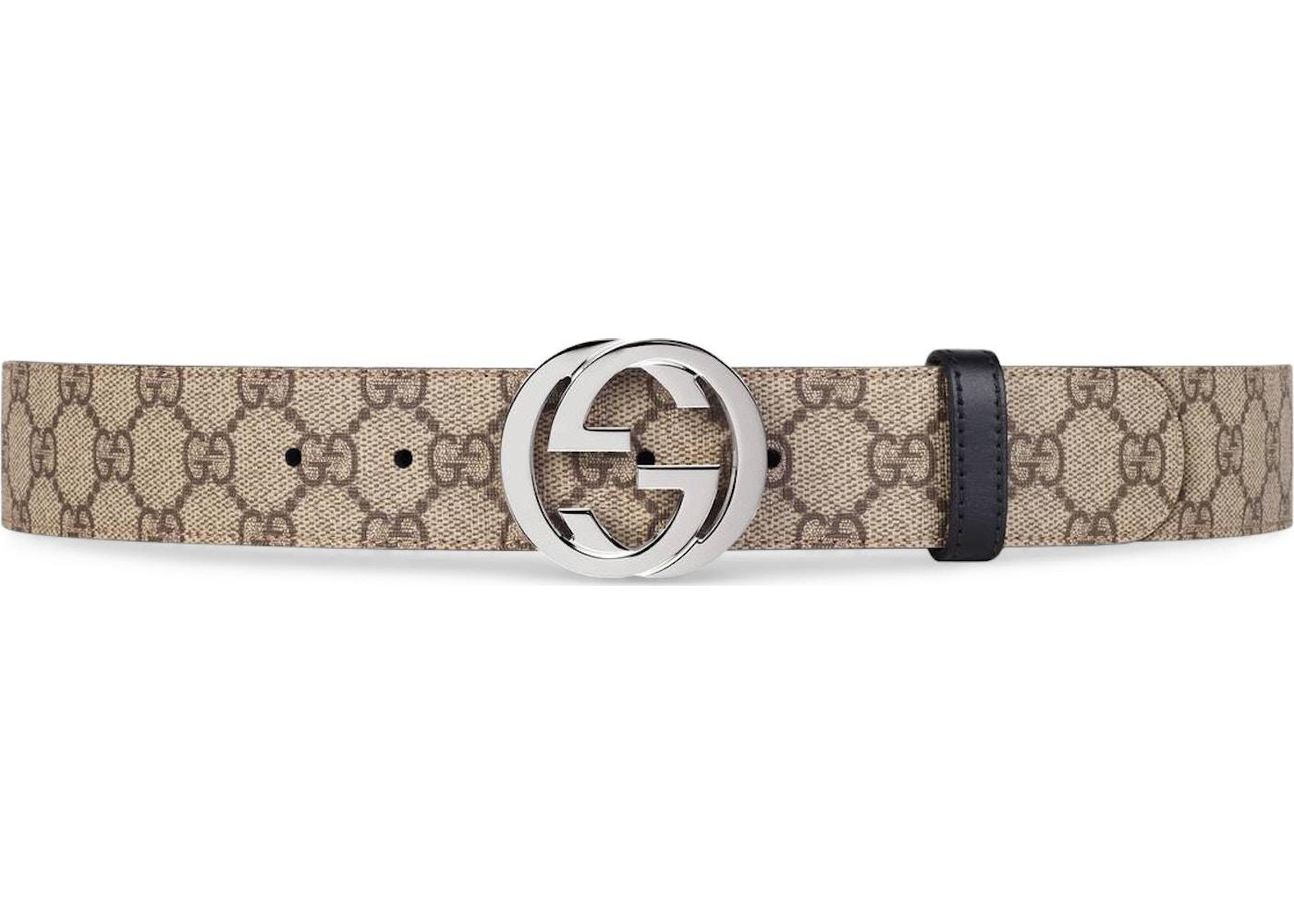 2e20c77c4 Gucci Reversible Belt GG Supreme Palladium Interlocking G Buckle ...