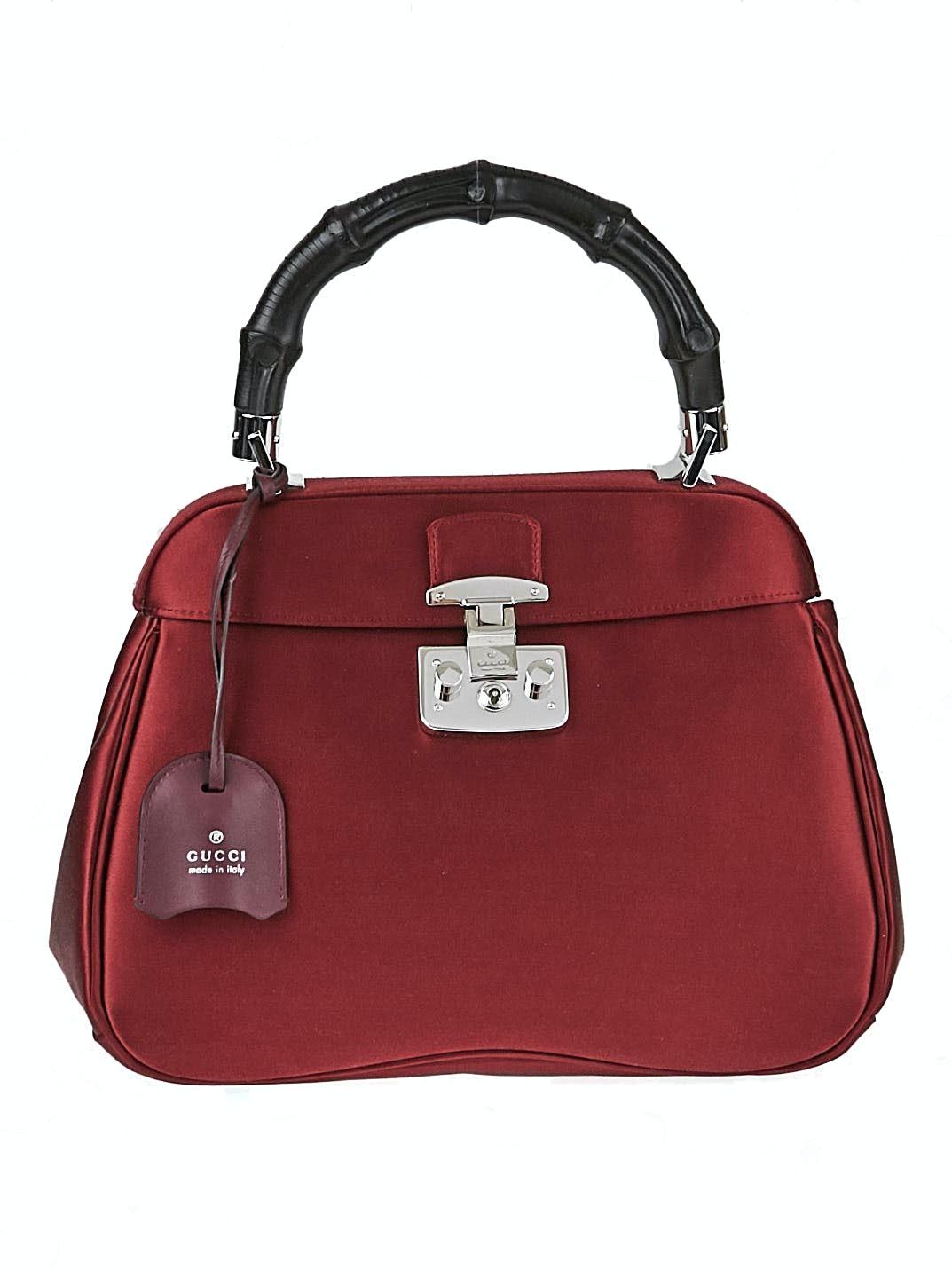 Gucci Lady Lock Bamboo Top Handle Mini Red