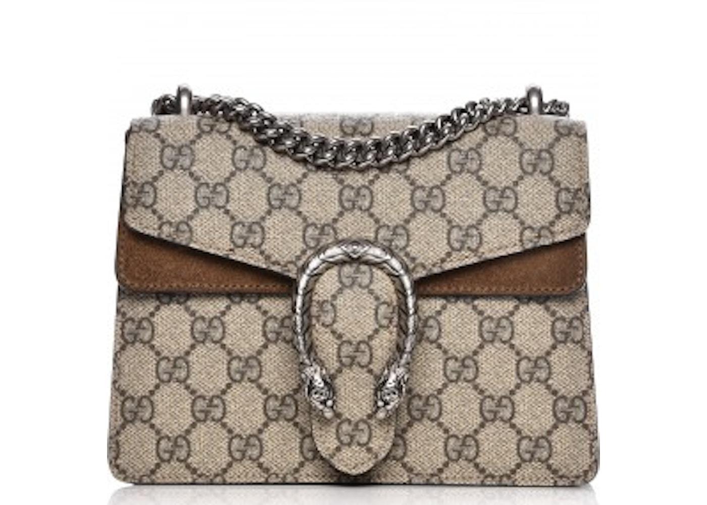 c36cf021d28 Gucci Dionysus Shoulder Bag GG supreme Monogram Horseshoe ...