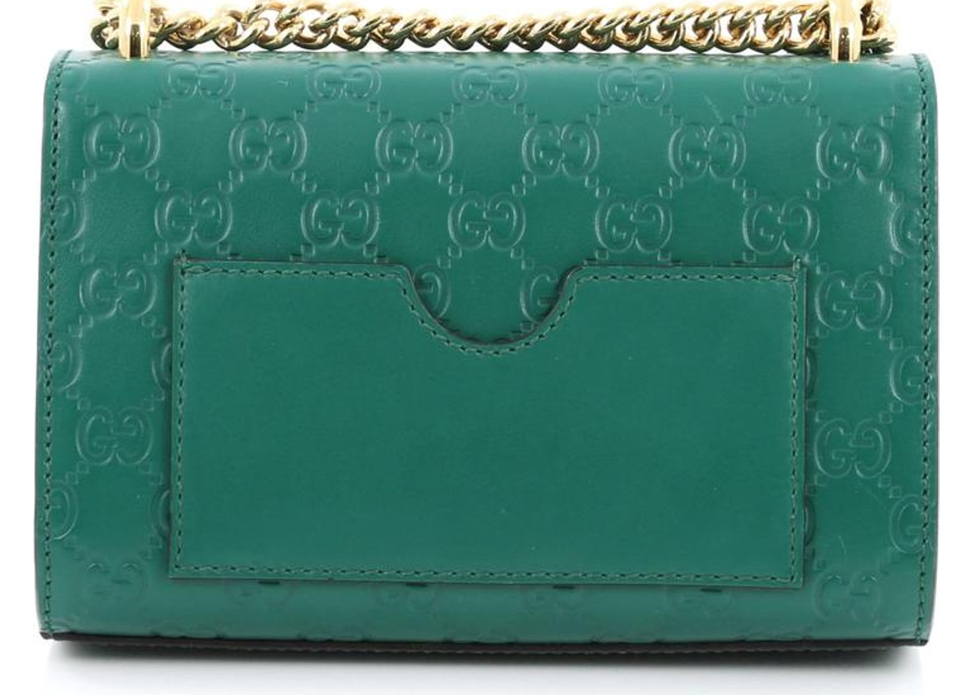 0b6f83ef516ed2 Gucci Padlock Shoulder Guccissima Mini Green