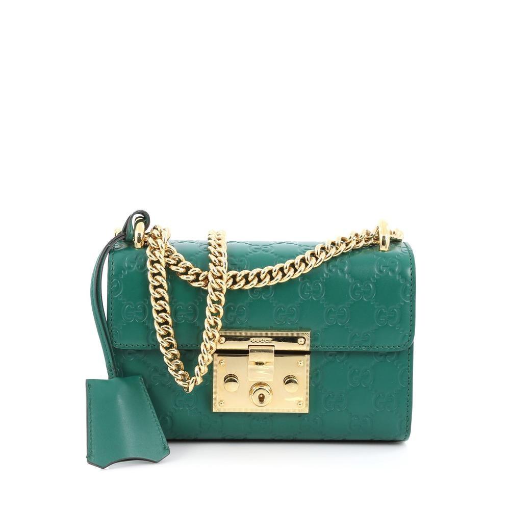 Gucci Padlock Shoulder Guccissima Mini Green