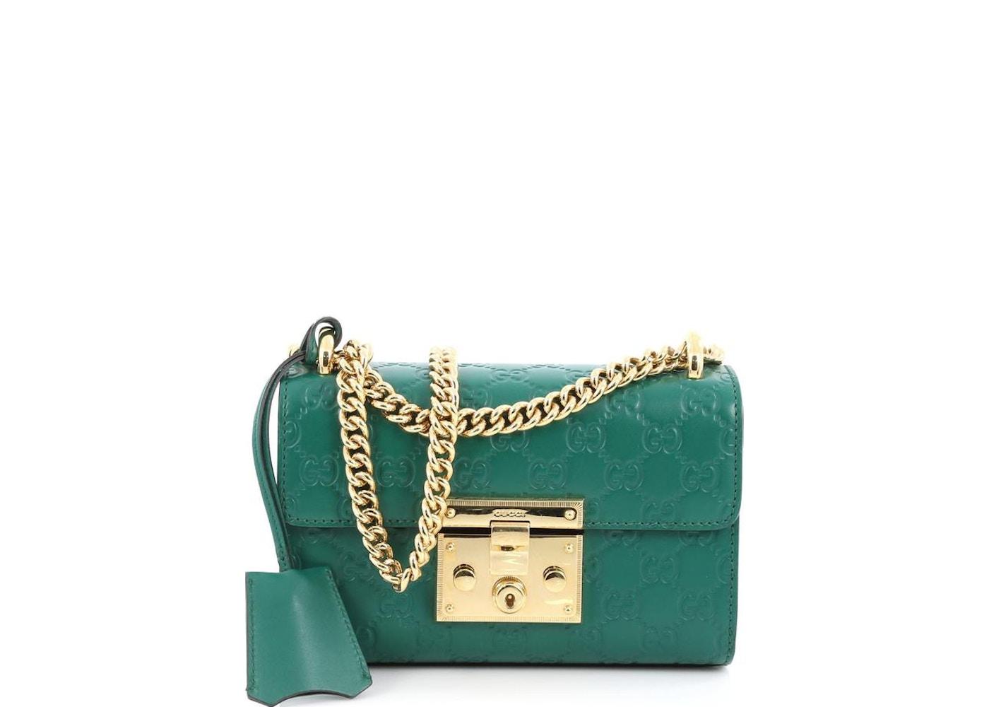 fa20c189162b2d Gucci Padlock Shoulder Guccissima Mini Green. Guccissima Mini Green