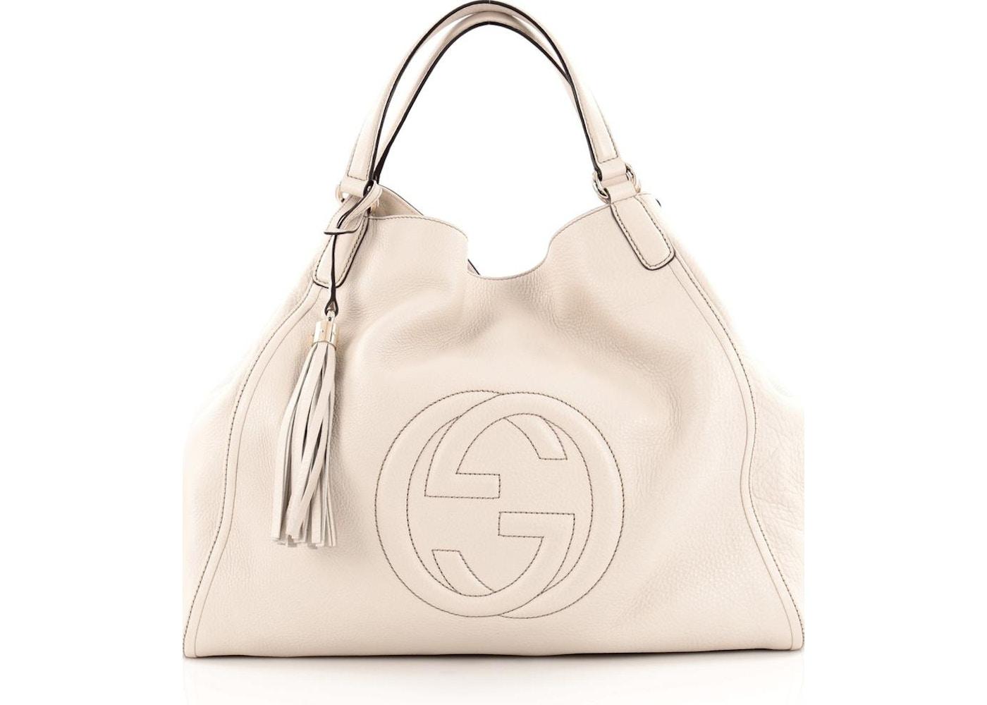 d0dc9546cb3412 Gucci Soho Shoulder Bag GG Interlocking GG Logo Stitched Large Off ...