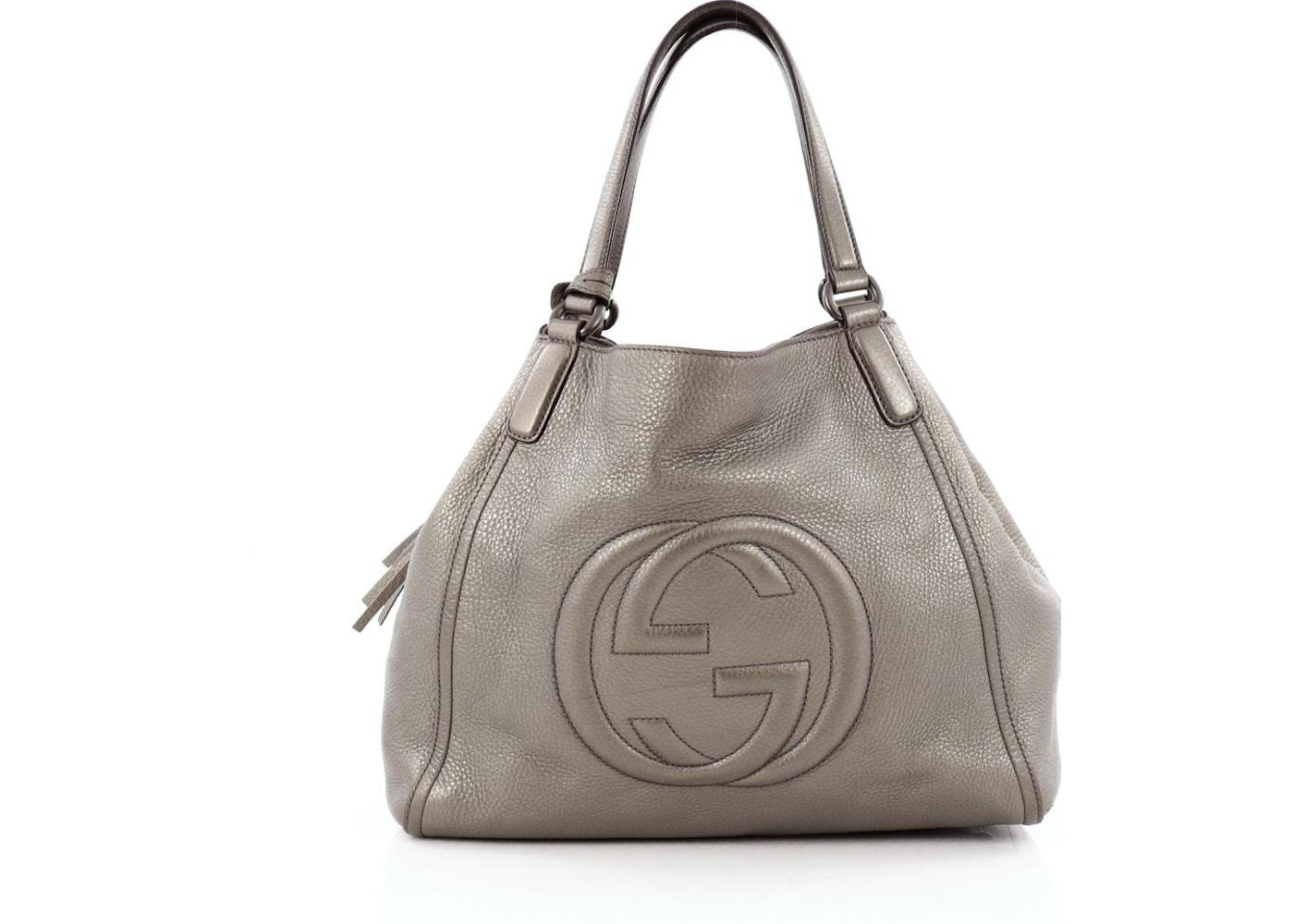 89a4110de Gucci Soho Shoulder Bag GG Interlocking GG Logo Stitched Medium ...