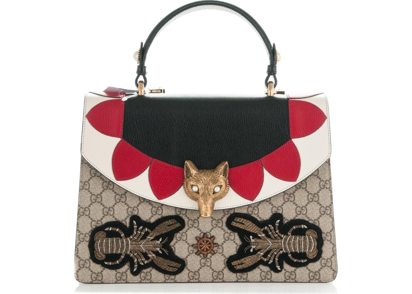 51089816720b Sell. or Ask. View All Bids. Gucci Fox Broche Shoulder Monogram GG Supreme  ...