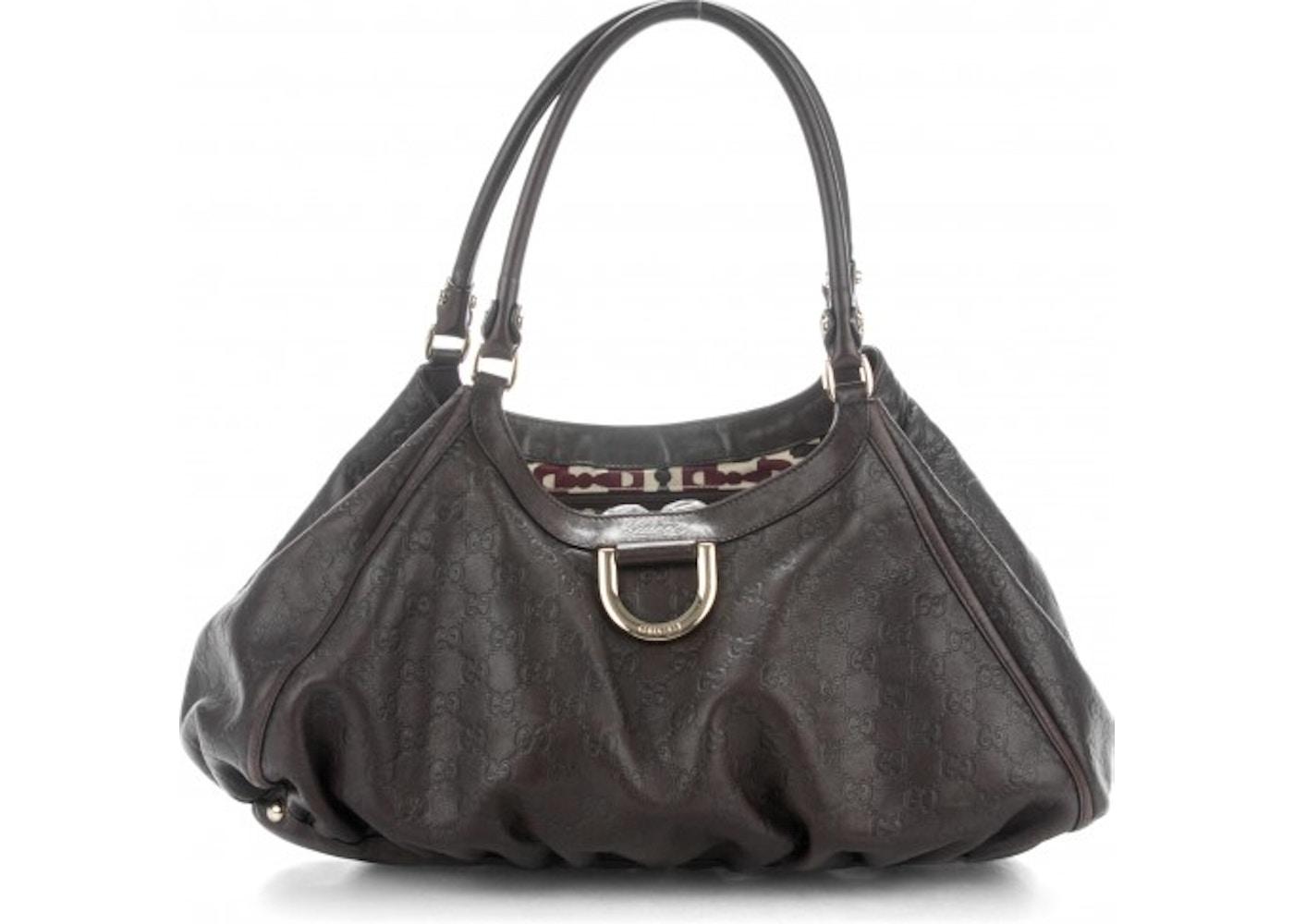 e85c6fc669c Gucci D Gold Shoulder Bag Monogram Guccissima Large Chocolate Brown.  Monogram Guccissima Large Chocolate Brown