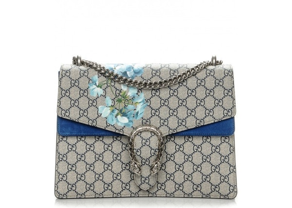 77606f5d8f98 Gucci Dionysus Blooms Shoulder Monogram GG Supreme Floral Print Medium  Brown/Blue