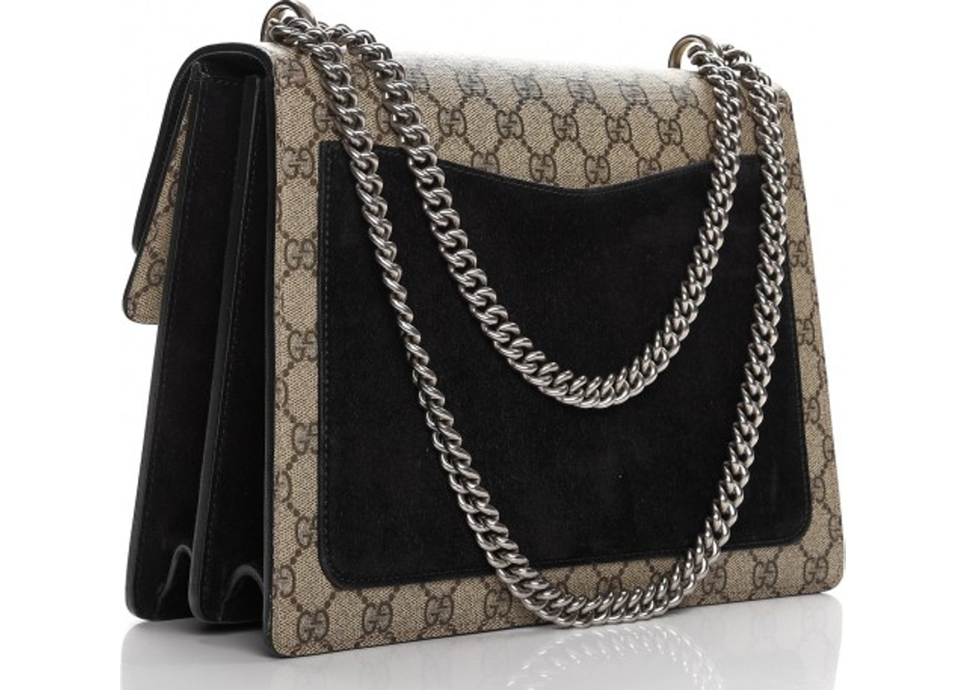 7c69b3469 Gucci Dionysus Shoulder Bag Monogram GG Medium Black/Beige