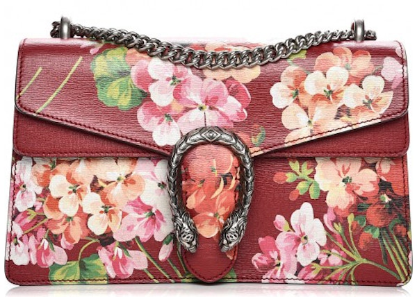 d4e54c13 Gucci Dionysus Shoulder Bag Blooms Small Cerise Red/Green/Pink