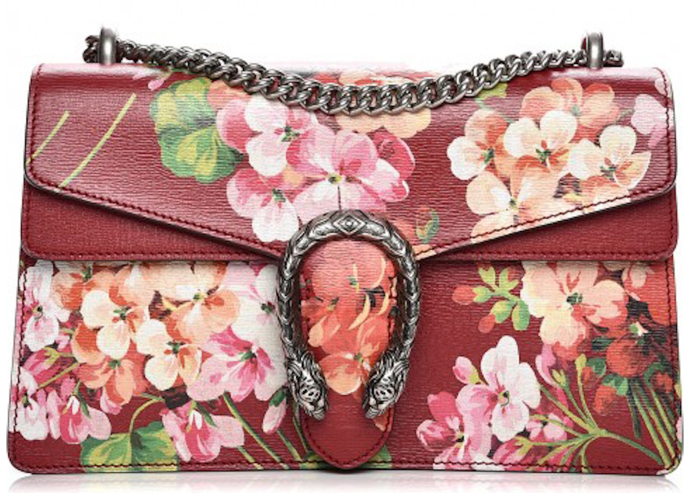a370844af Gucci Dionysus Shoulder Bag Blooms Small Cerise Red/Green/Pink. Blooms Small  Cerise Red/Green/Pink