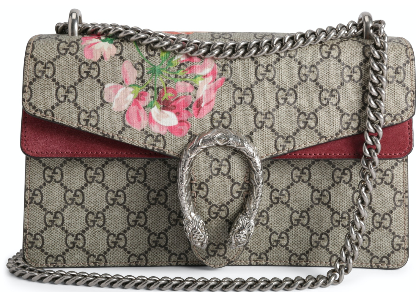 5e07e725ec7cd Gucci Dionysus Shoulder Bag Blooms GG Supreme Small Antique  Rose Green Brown. Blooms GG Supreme Small Antique Rose Green Brown