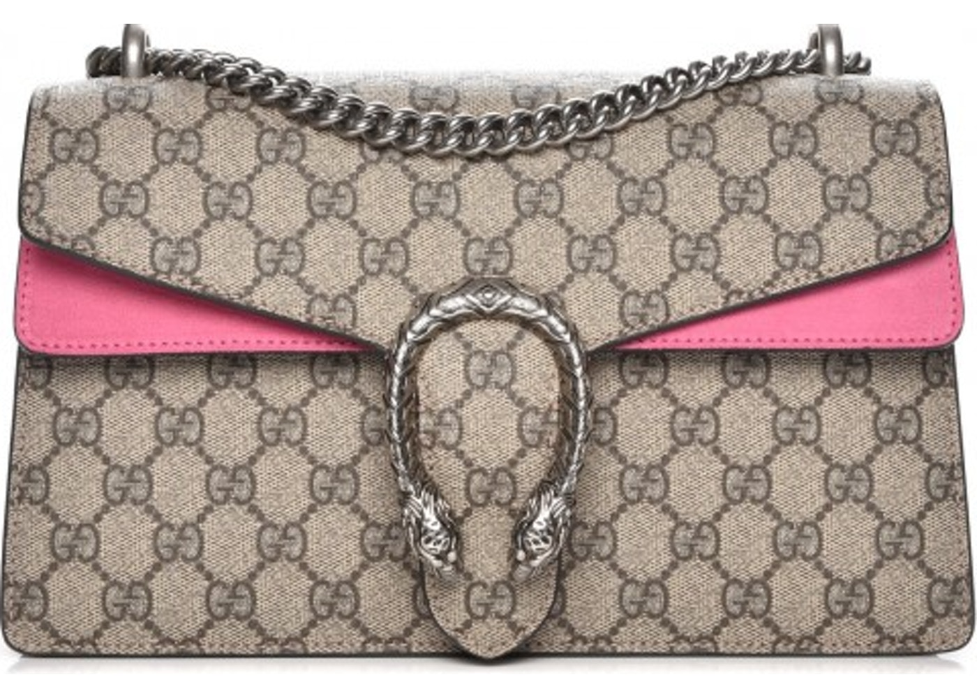 af91d284590a Gucci Dionysus Shoulder Bag Monogram GG Supreme Small Pink/Beige. Monogram  GG Supreme Small Pink/Beige
