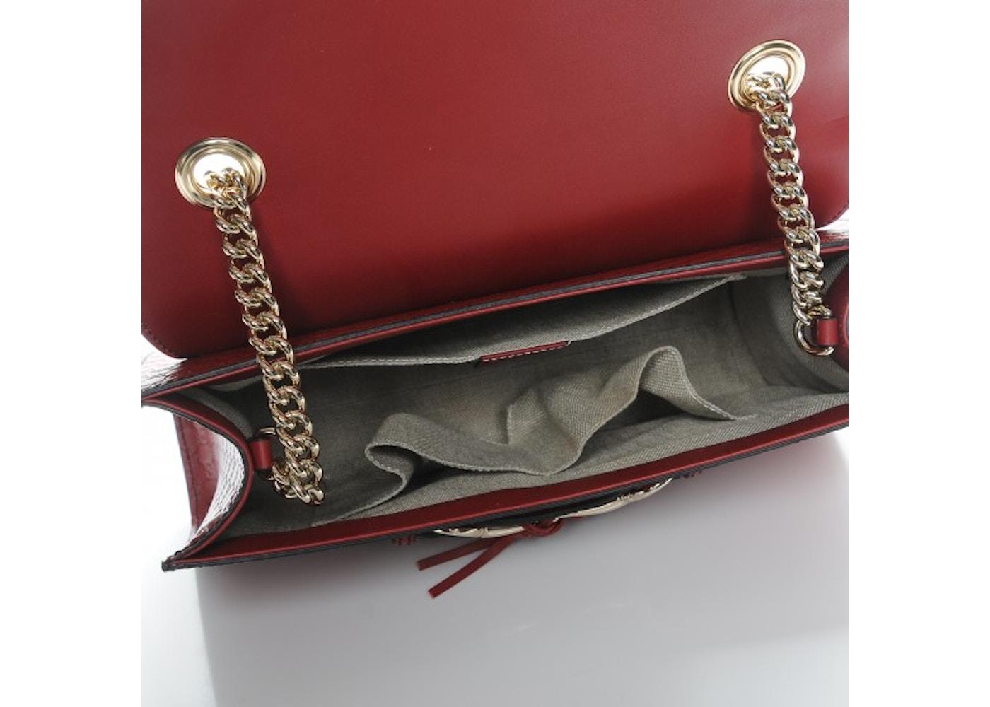 eb694b1d4c68 Gucci Emily Shoulder Bag Monogram Microguccissima Medium Red