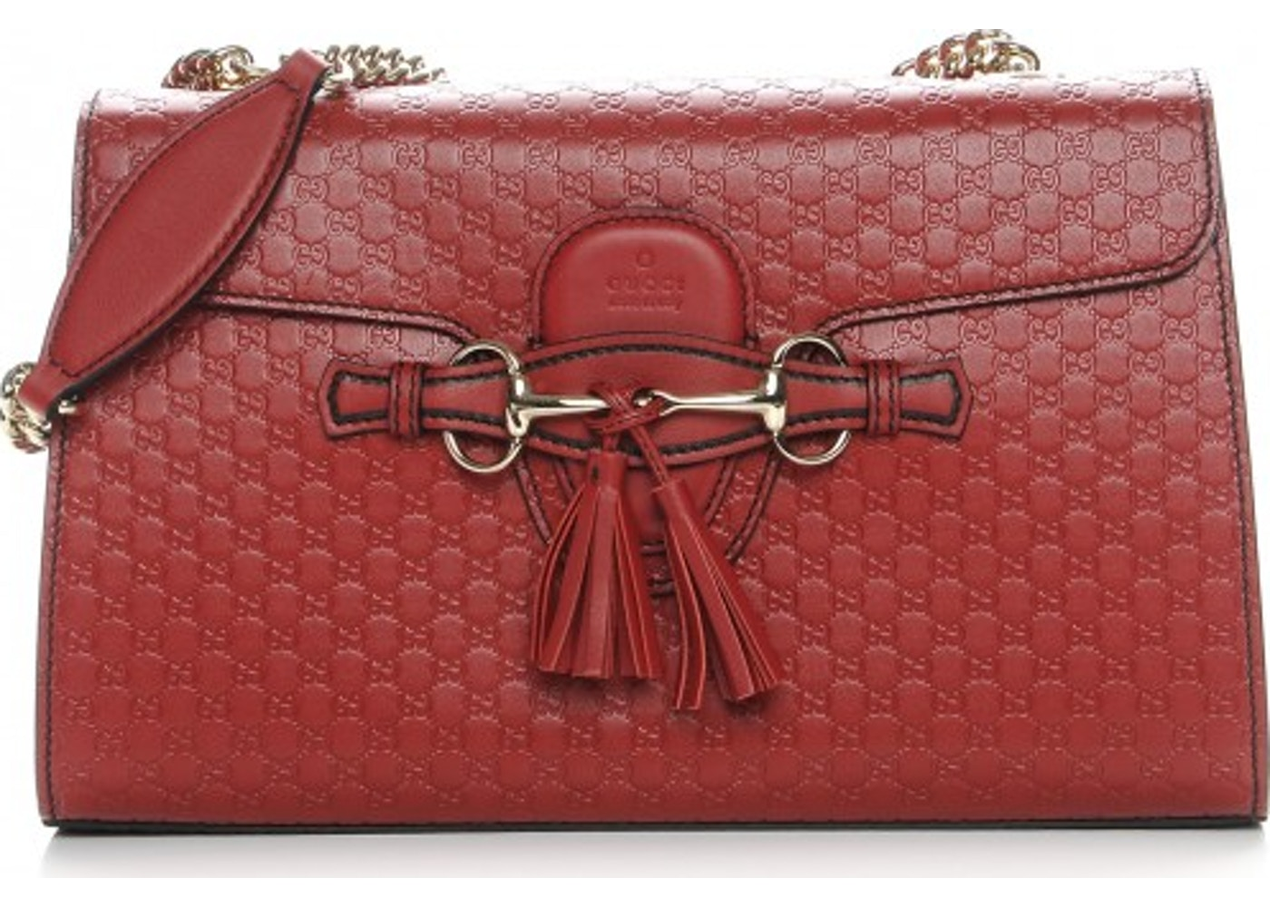 88cca180943 Gucci Emily Shoulder Bag Monogram Microguccissima Medium Red. Monogram  Microguccissima Medium Red