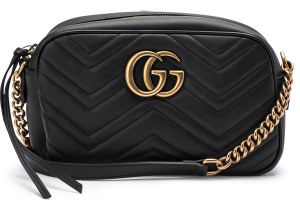 4131eecd618492 Gucci GG Marmont Camera Bag Matelasse Small Black