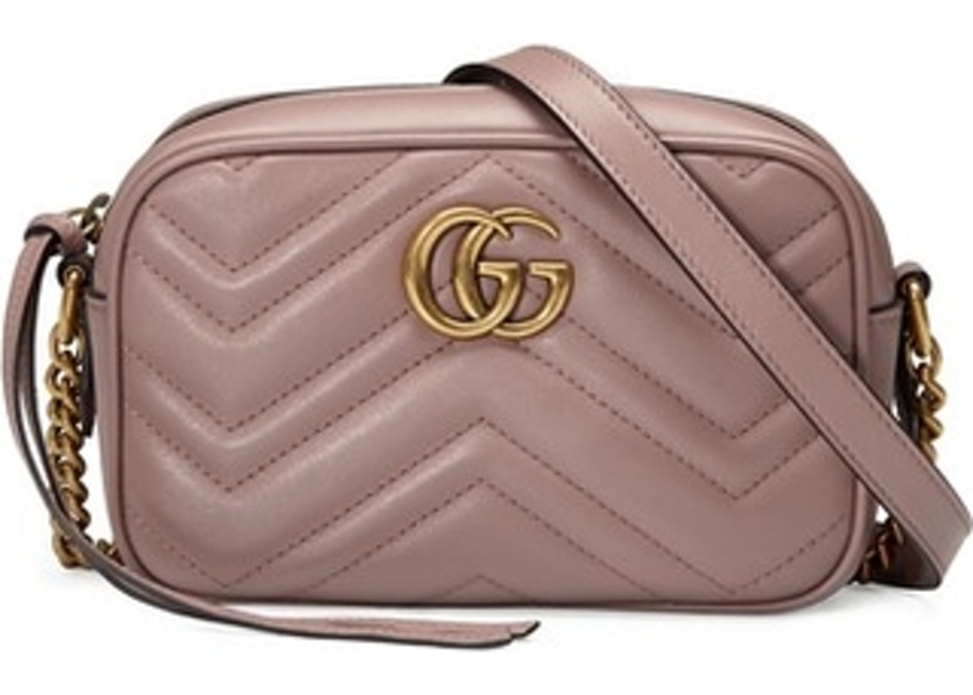 GUCCI GG Marmont Small Matelasse Shoulder Bag White | Luxity