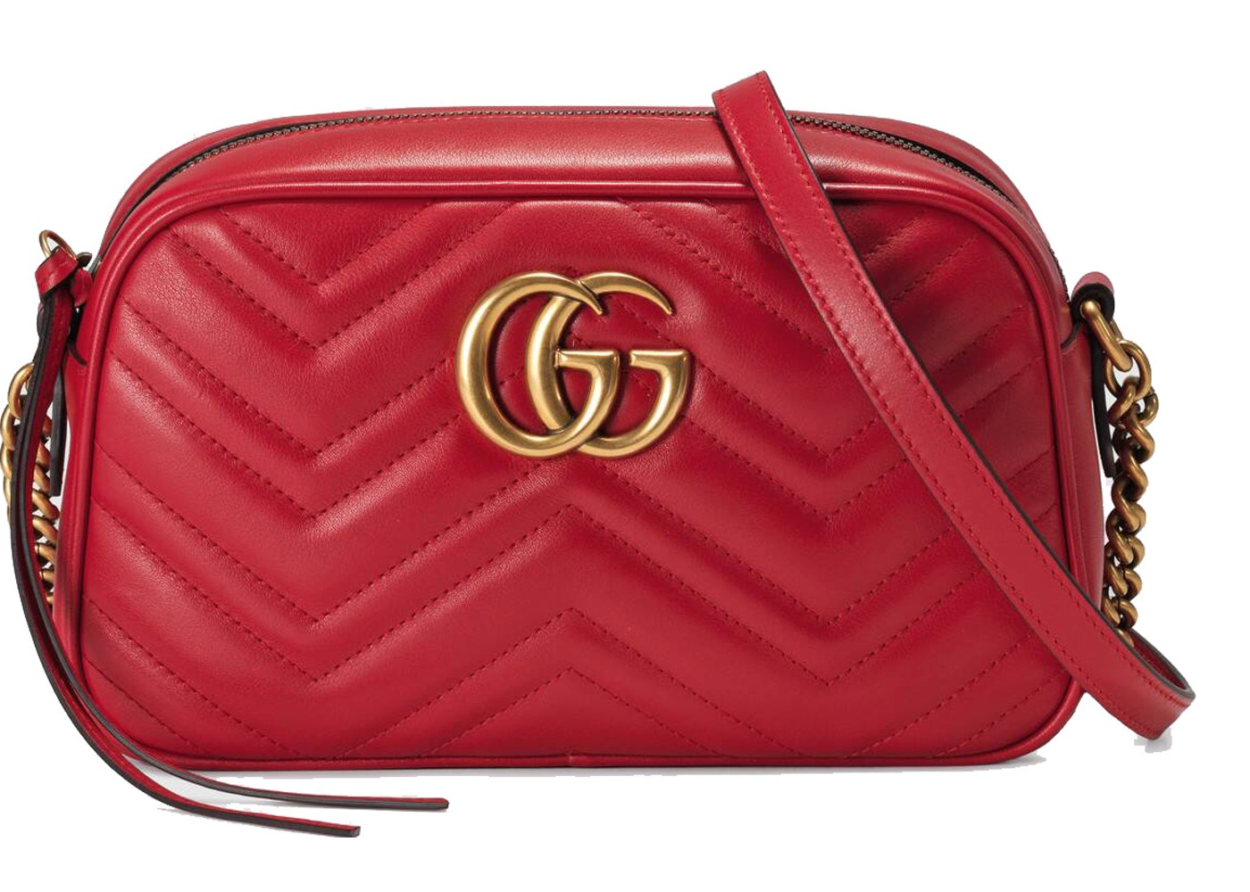 0b71c4ac5 Gucci GG Marmont Shoulder Matelasse Small Hibiscus Red. Matelasse Small  Hibiscus Red
