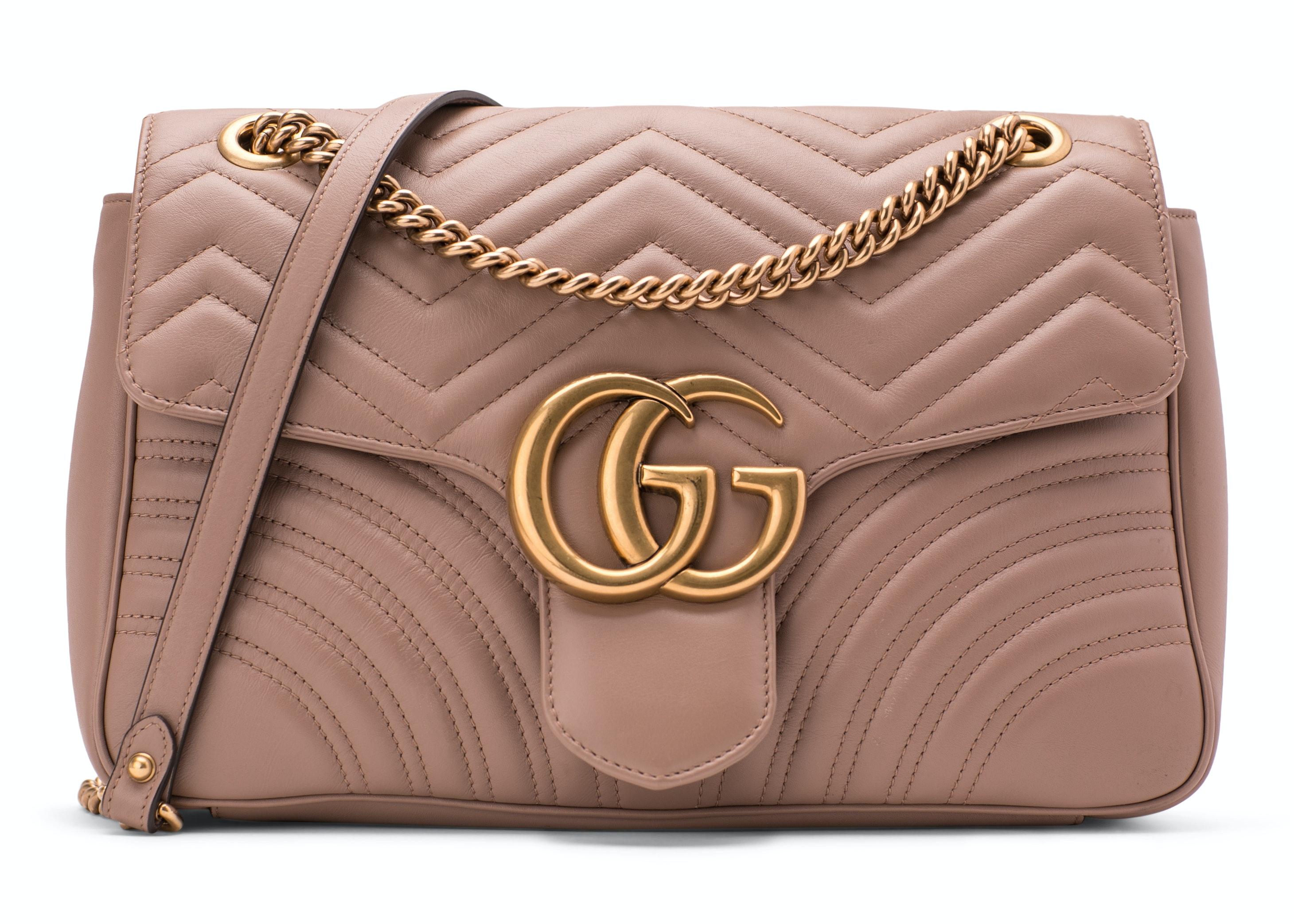 Gucci Shoulder GG Marmont Medium Dusty Pink