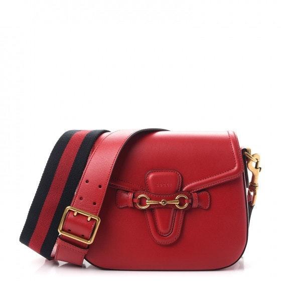Gucci Lady Web Shoulder Bag Medium Red