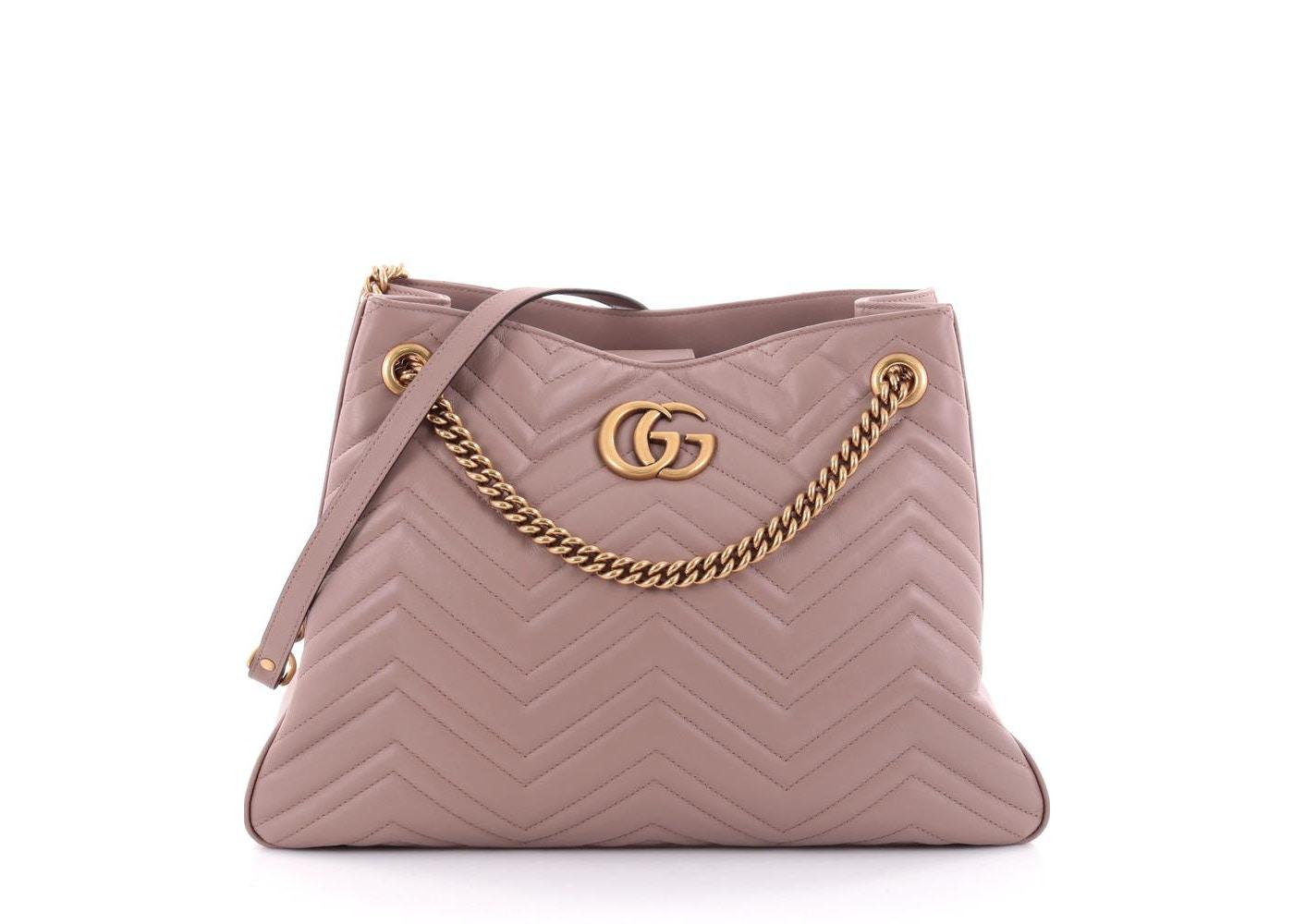 74dac840093d Gucci Marmont Chain Shoulder Bag Matelasse Taupe. Matelasse Taupe