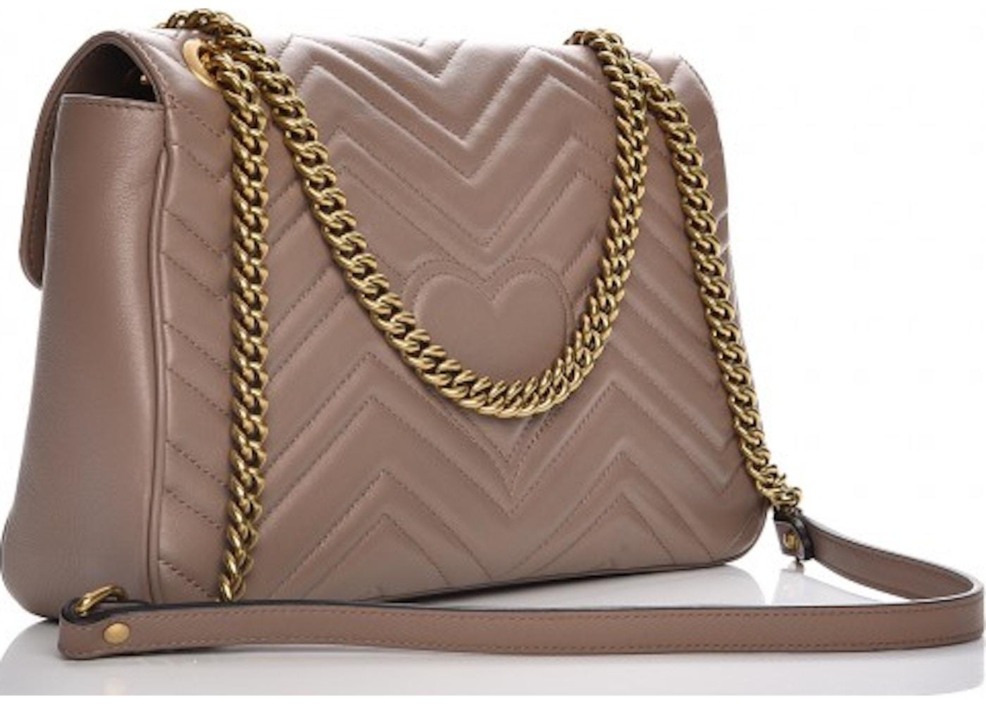 05f919900ed Gucci Marmont Shoulder Bag Matelasse GG Medium Porcelain Rose