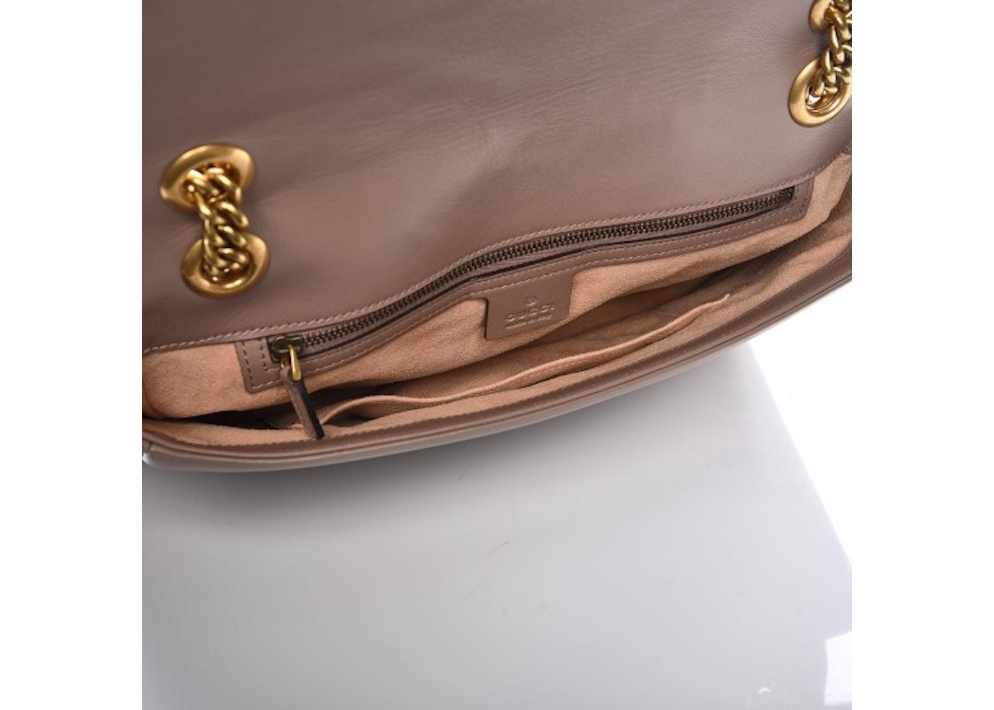 815d8915a4d Gucci Marmont Shoulder Bag Matelasse GG Medium Porcelain Rose