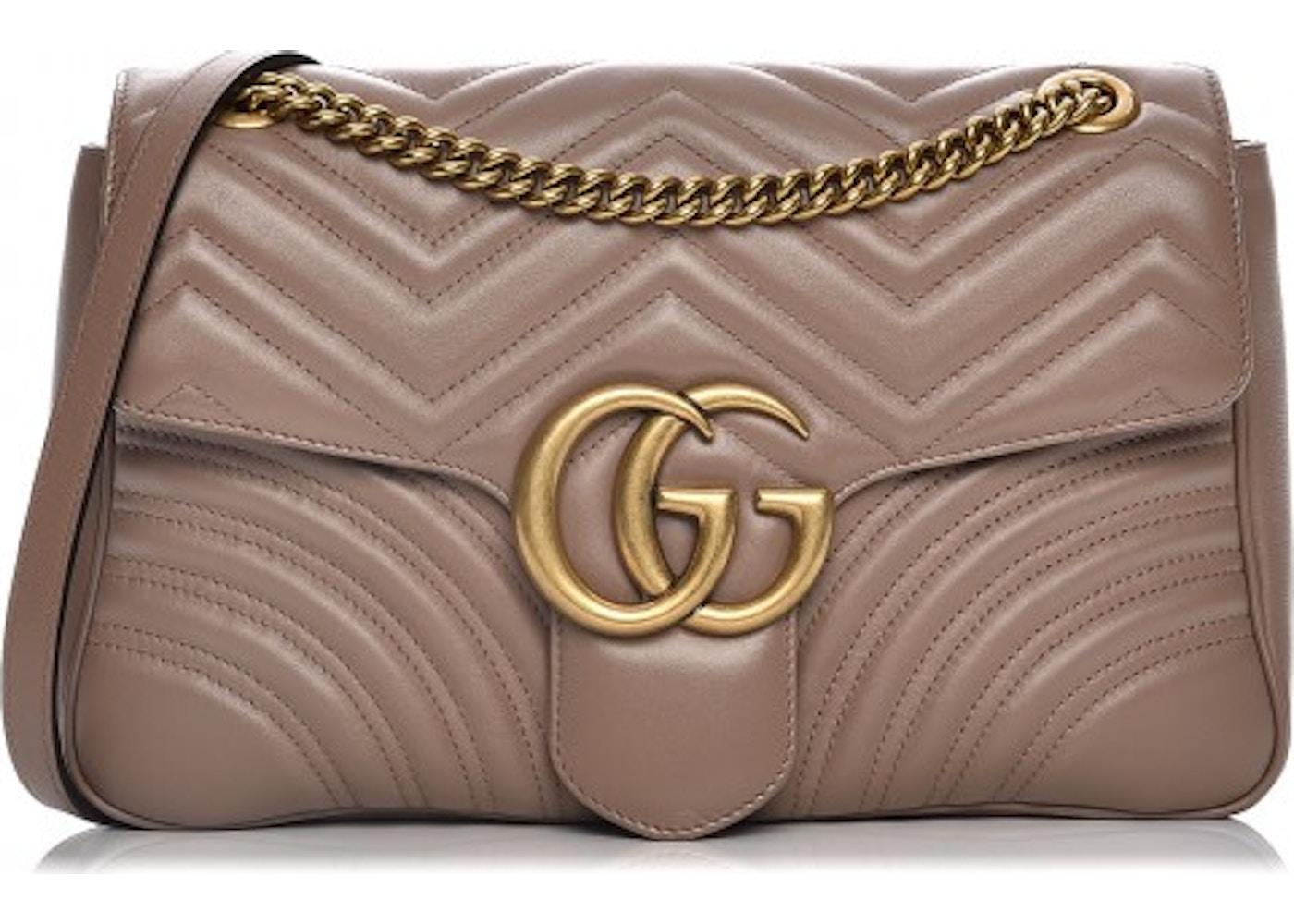 8b73a4a9d00 Gucci Marmont Shoulder Bag Matelasse GG Medium Porcelain Rose. Matelasse GG  Medium Porcelain Rose