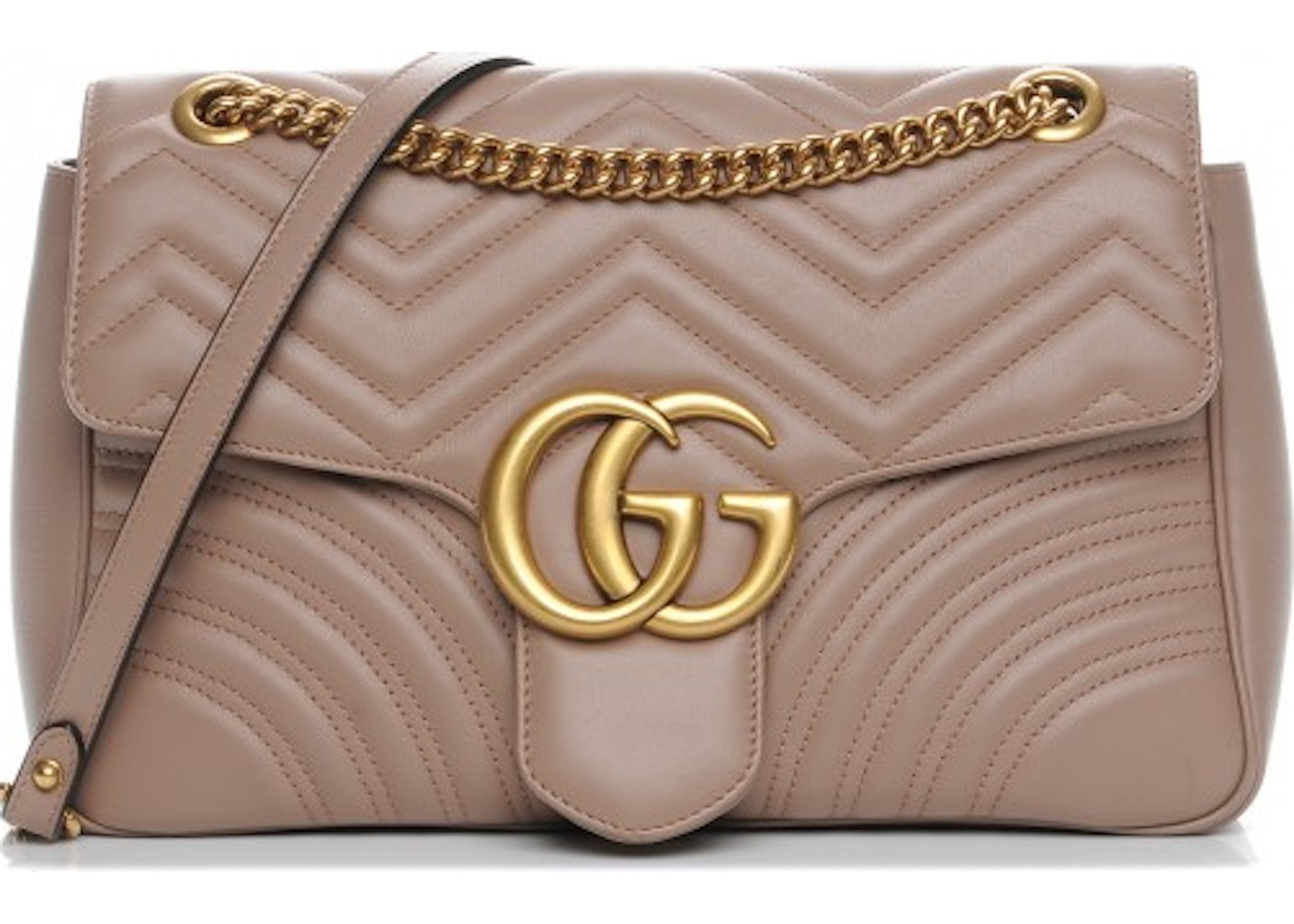 8f19afc5b83 Gucci Marmont Shoulder Bag Matelasse GG Medium Nude. Matelasse GG Medium  Nude