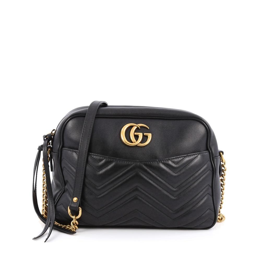Gucci Marmont Shoulder Bag Medium Black