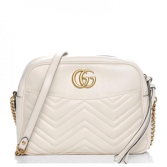 Gucci Marmont Shoulder Matelasse GG Medium White