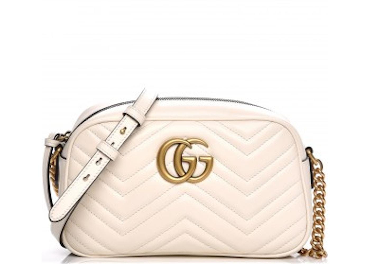 577dcca02cf6 Gucci Marmont Camera Bag Matelasse Small White