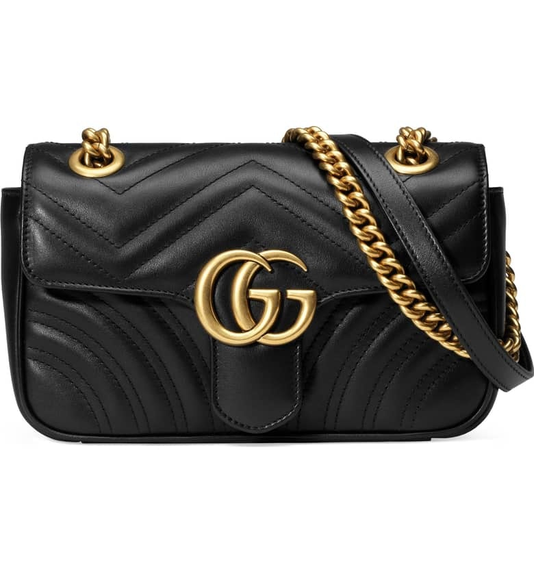 Gucci Marmont Shoulder Matelasse GG Mini Black