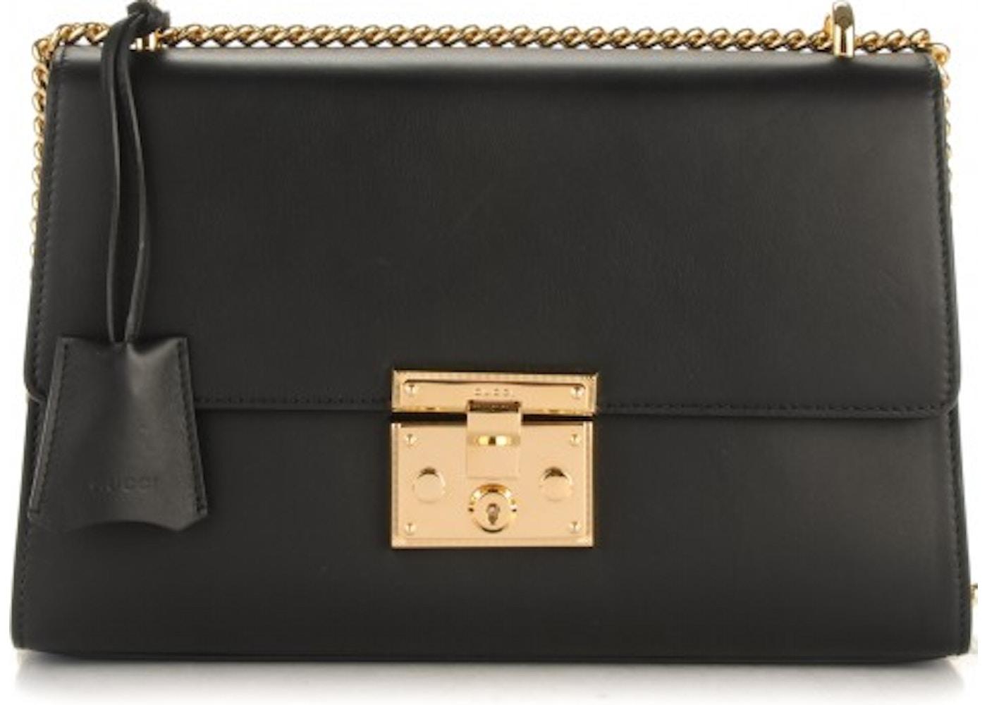 b124cc76 Gucci Padlock Shoulder Bag Medium Black. Medium Black