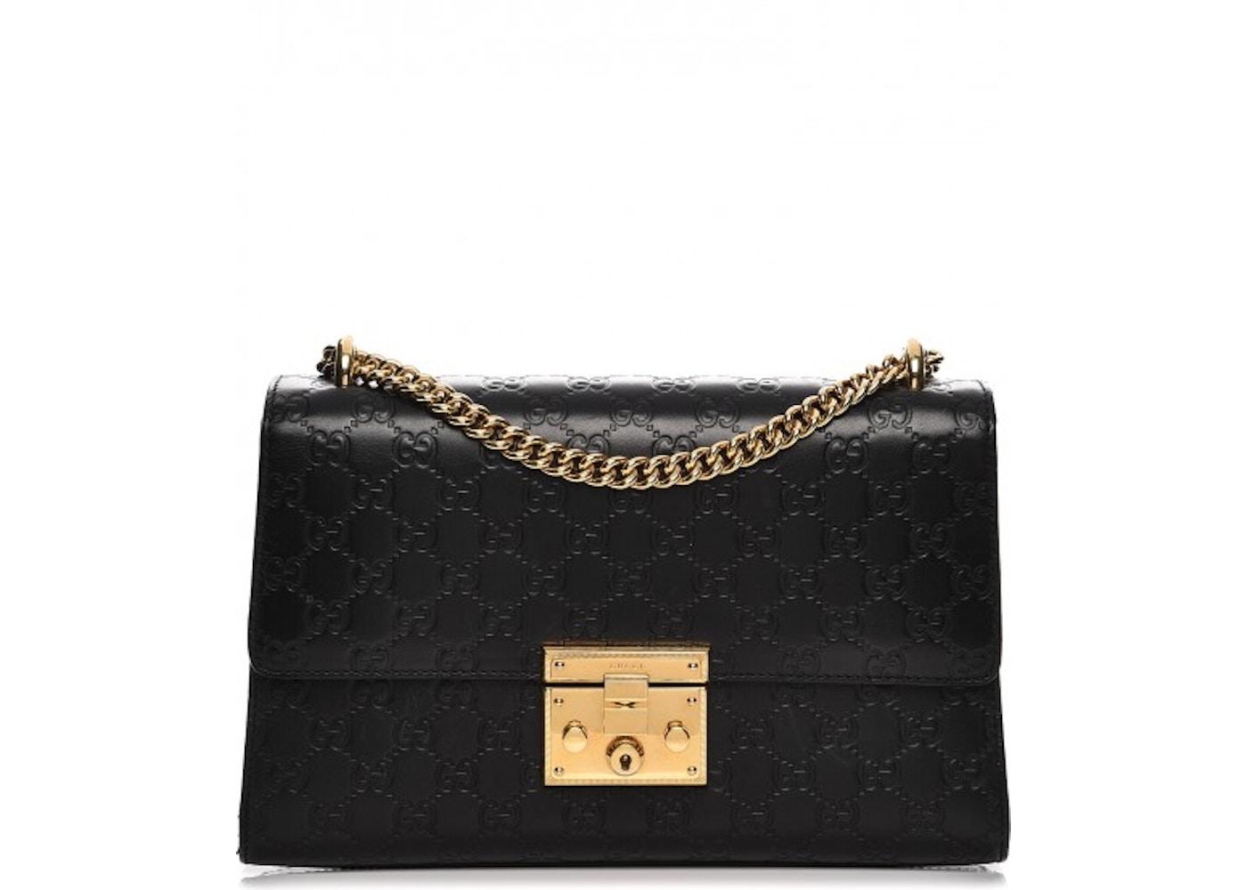 8614ebd2 Gucci Padlock Shoulder Bag Monogram Guccissima Medium Black. Monogram  Guccissima Medium Black